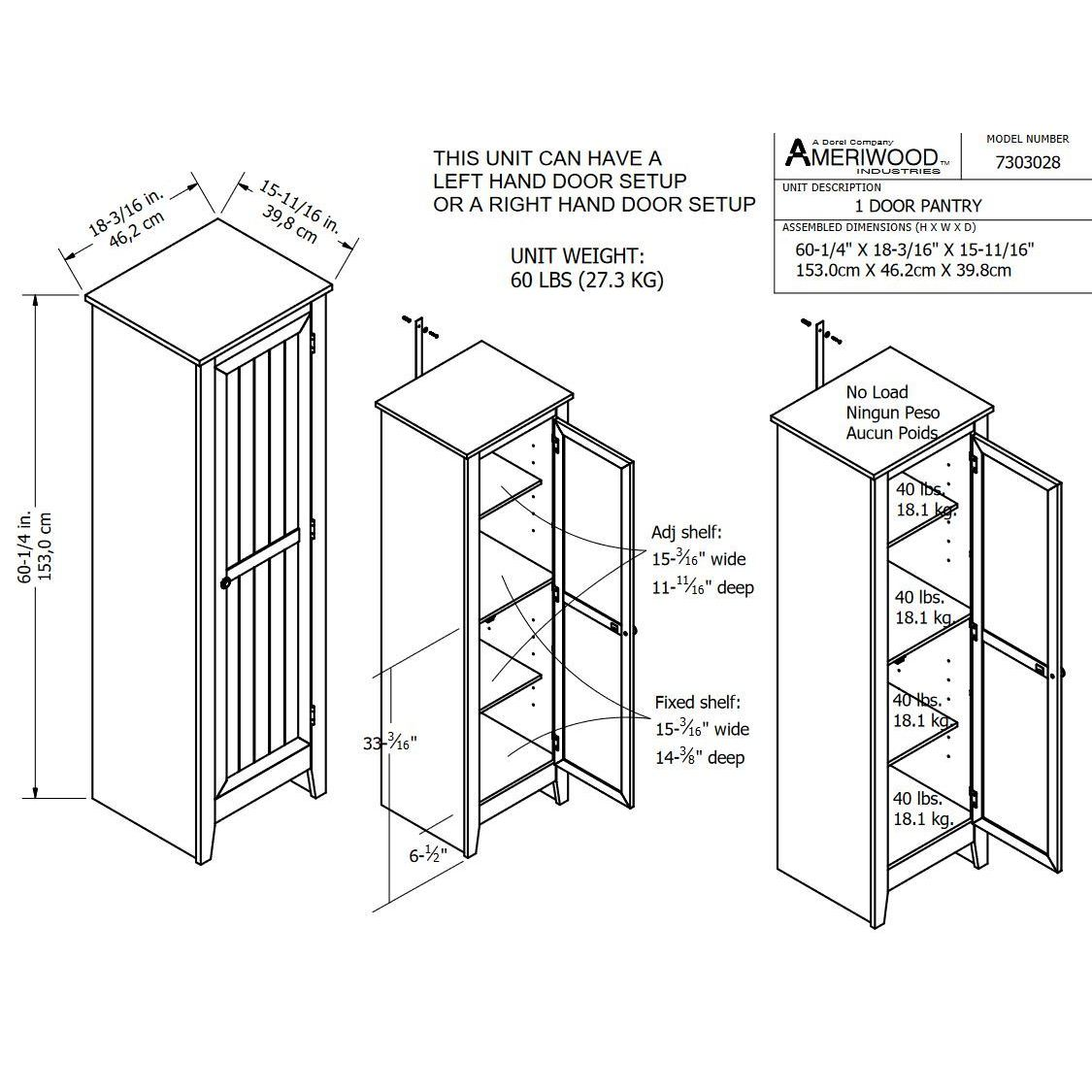 Shop SystemBuild Pine Finished 1 Door Storage Pantry Cabinet   Free  Shipping Today   Overstock.com   11020933