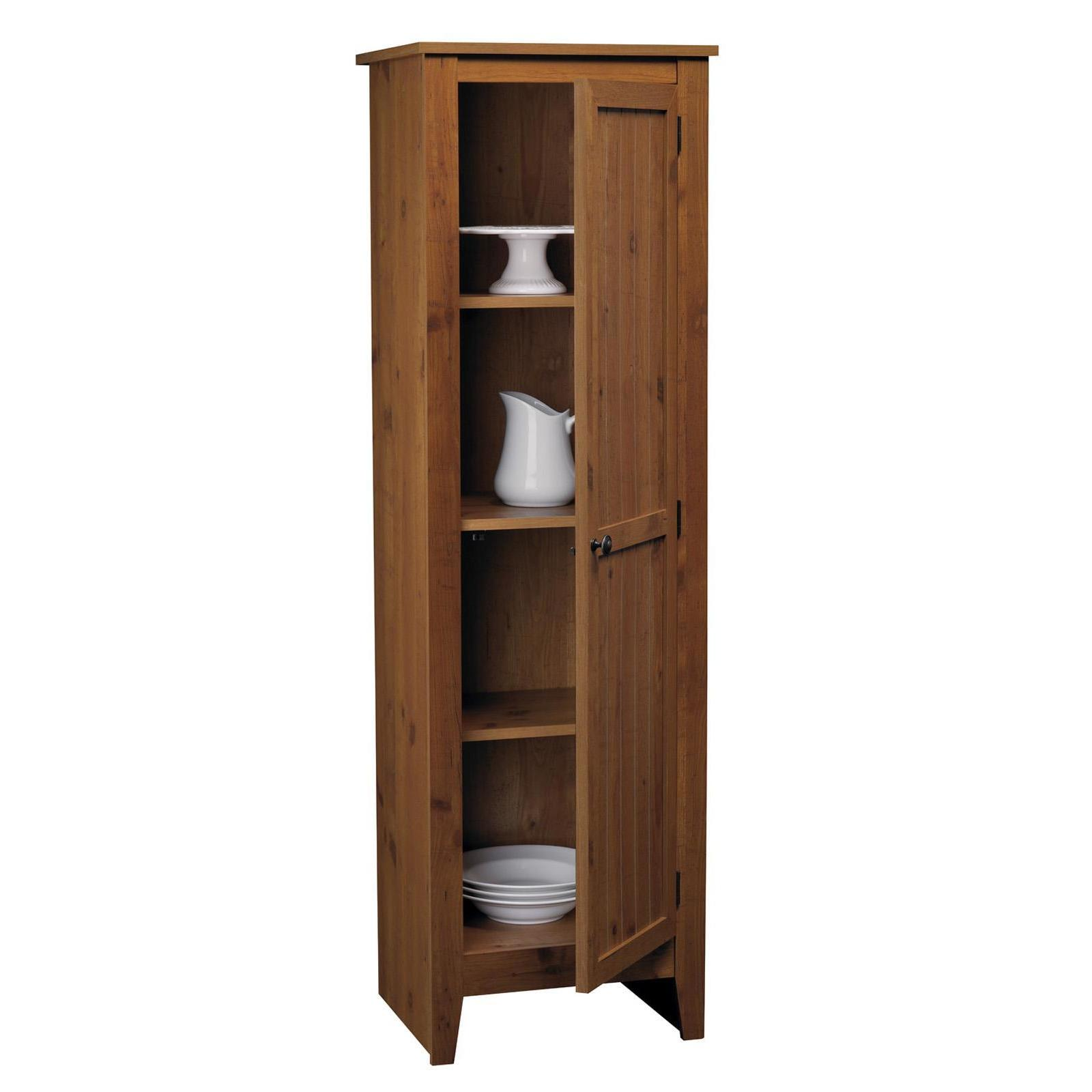 SystemBuild Single-door Storage Pantry Cabinet - Free Shipping Today -  Overstock.com - 18037047