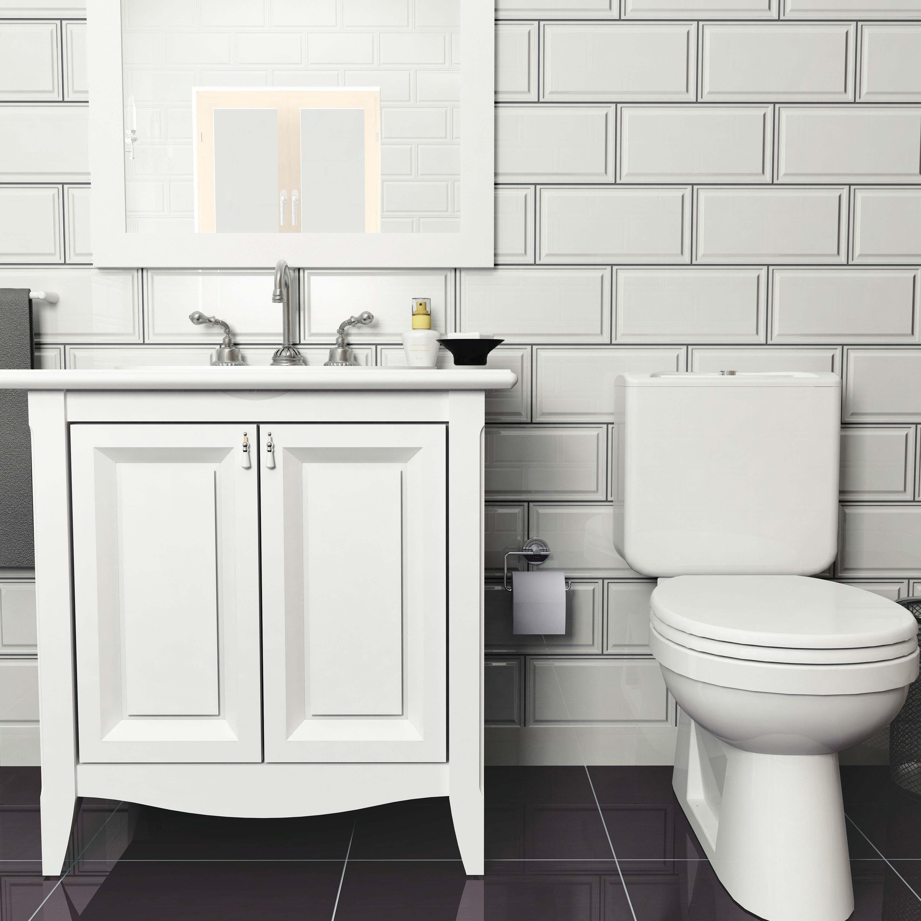 Somertile 6x12 Inch Dobladillo White Ceramic Wall Tile 22 Tiles 10 76 Sqft Free Shipping Today 18037114