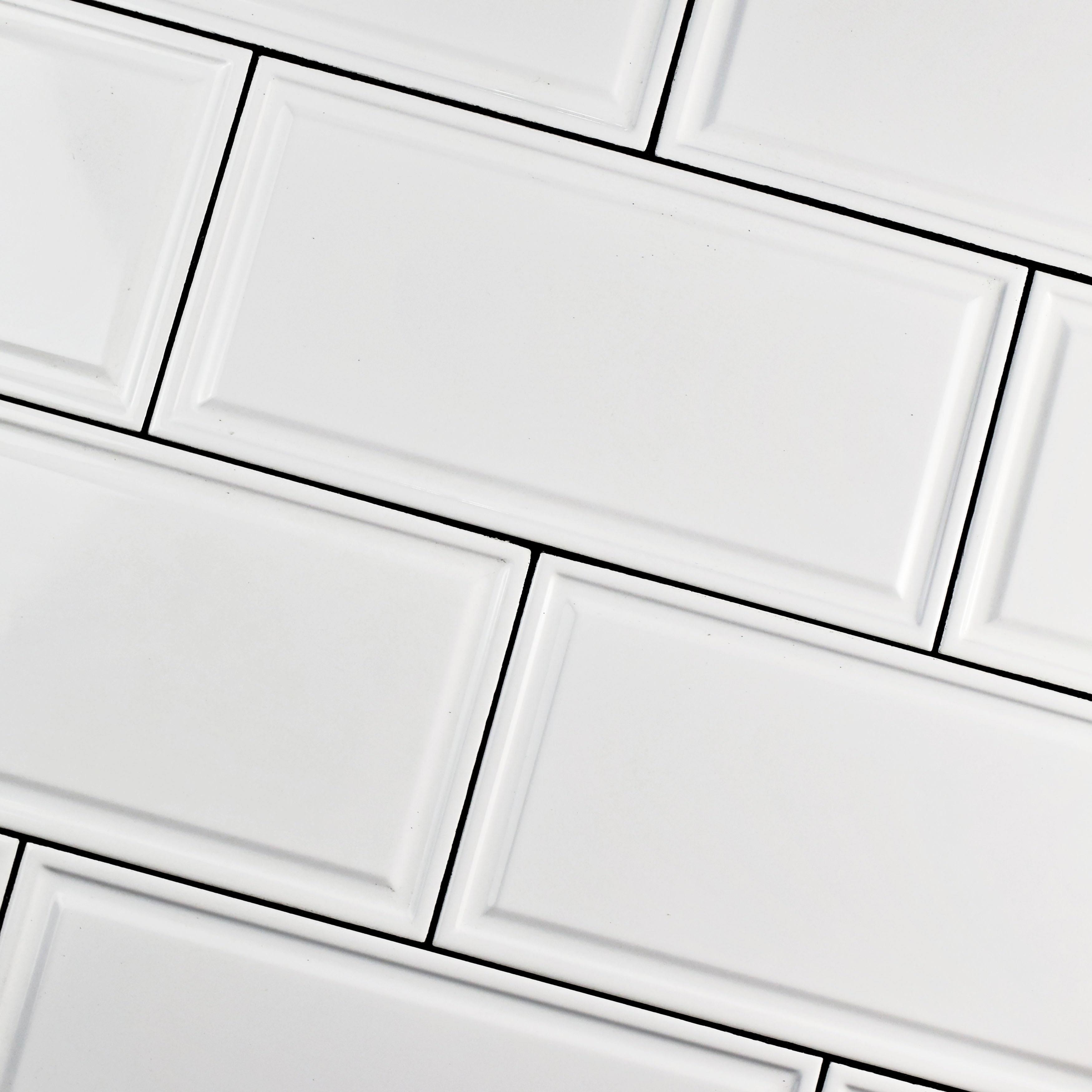 Somertile 6x12 inch dobladillo white ceramic wall tile 22 tiles somertile 6x12 inch dobladillo white ceramic wall tile 22 tiles1076 sqft free shipping today overstock 18037114 dailygadgetfo Images