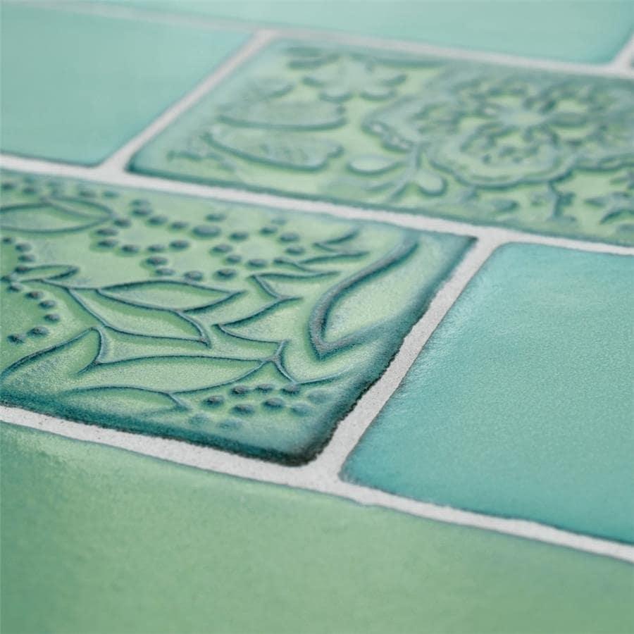 Shop SomerTile 3x6-inch Antiguo Feelings Lava Verde Ceramic Wall ...