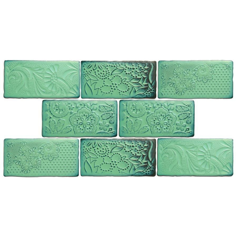 Somertile 3x6 Inch Antiguo Feelings Lava Verde Ceramic Wall Tile Pack Of 8 Free Shipping On Orders Over 45 18039582
