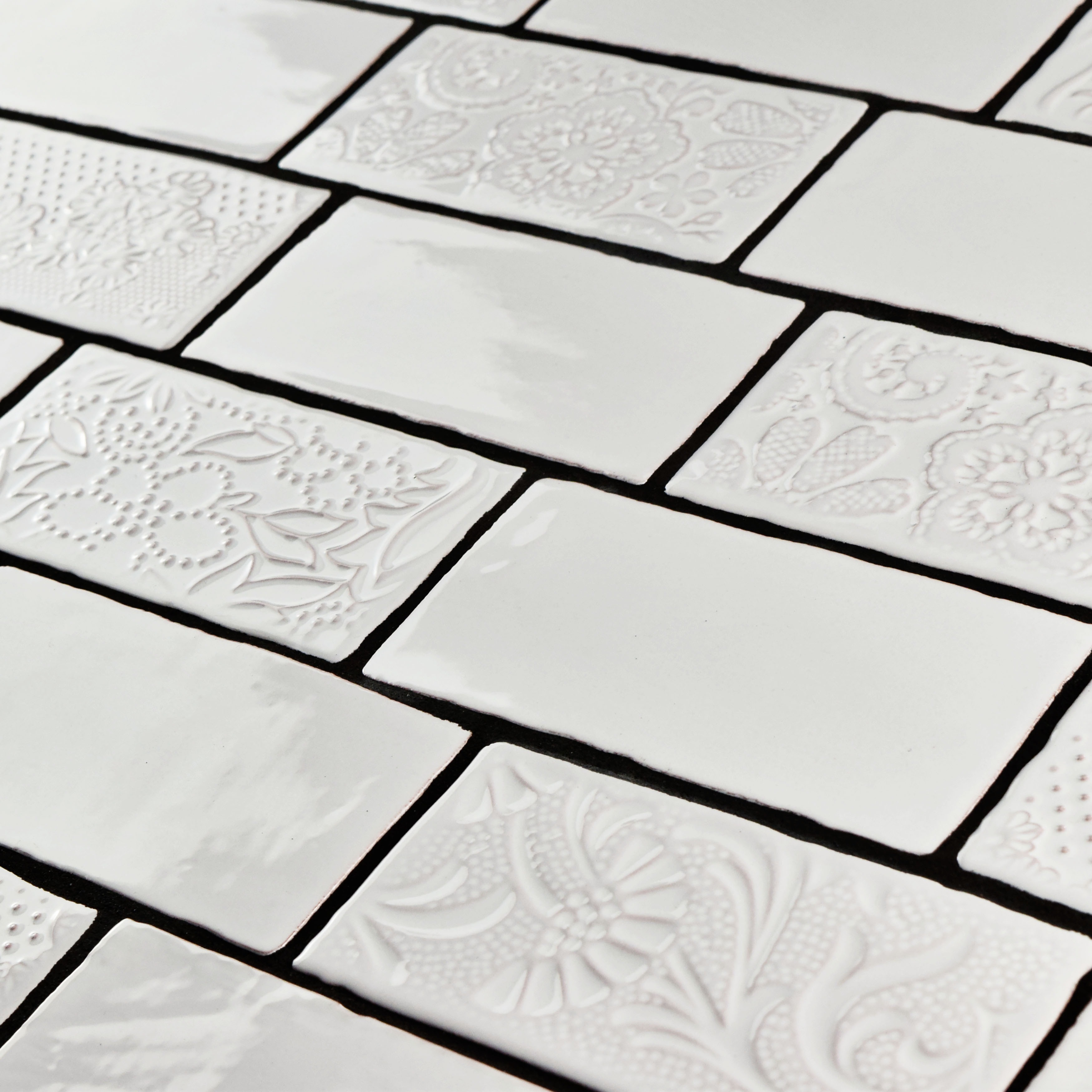Somertile 3x6 Inch Antiguo Special Milk Ceramic Wall Tile Pack Of 8 Free Shipping On Orders Over 45 18039590