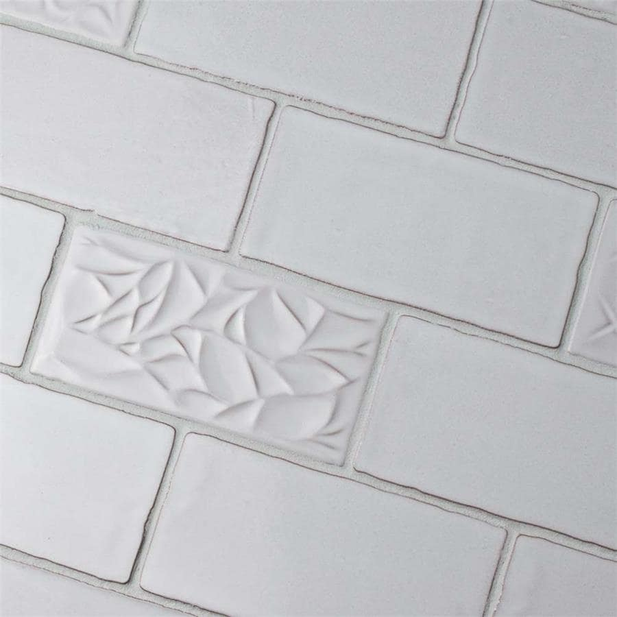 Shop SomerTile 3x6-inch Antiguo Special Milk Ceramic Wall Tile (8 ...