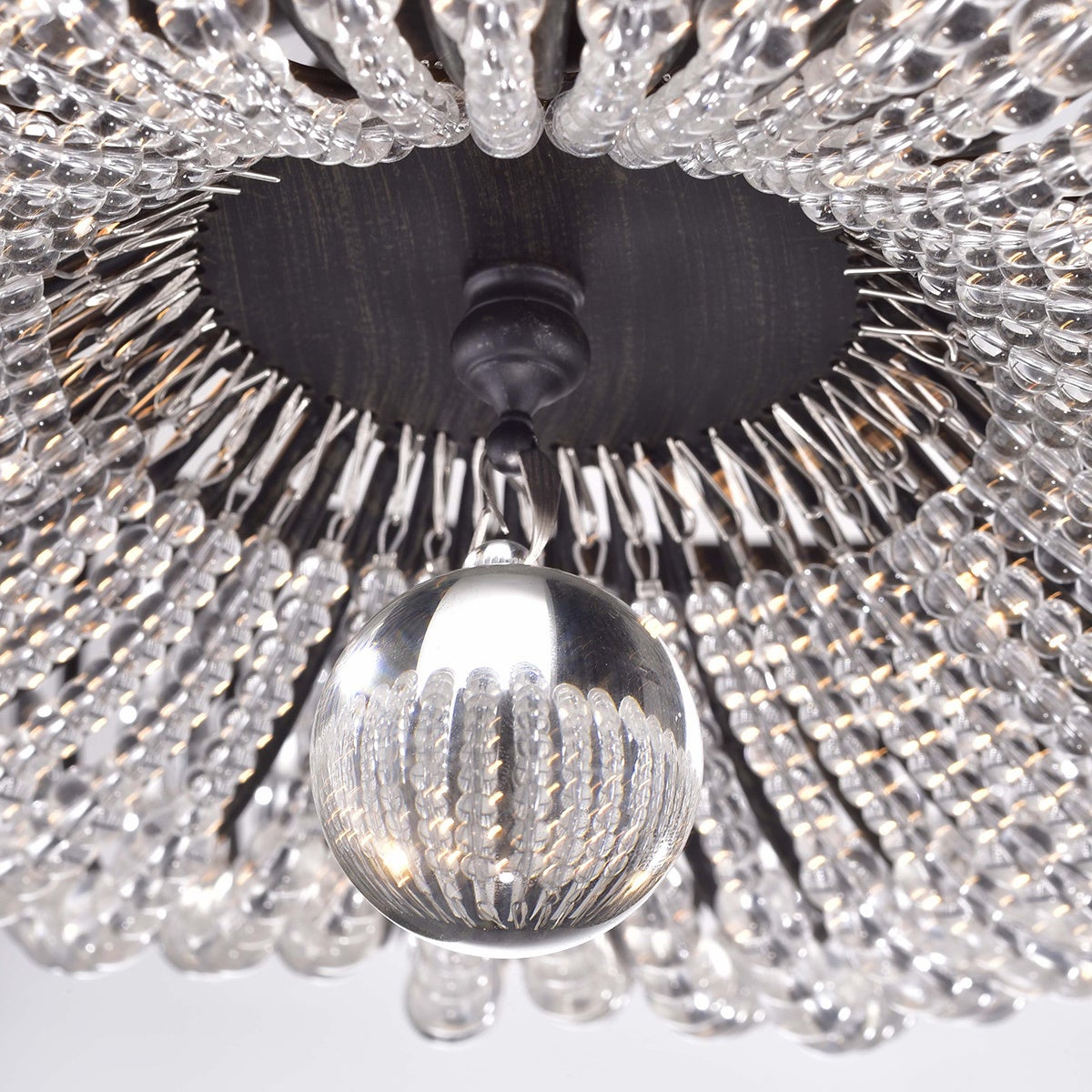 Connie 4 light antique black crystal beads flush mount chandelier connie 4 light antique black crystal beads flush mount chandelier free shipping today overstock 18050462 arubaitofo Images