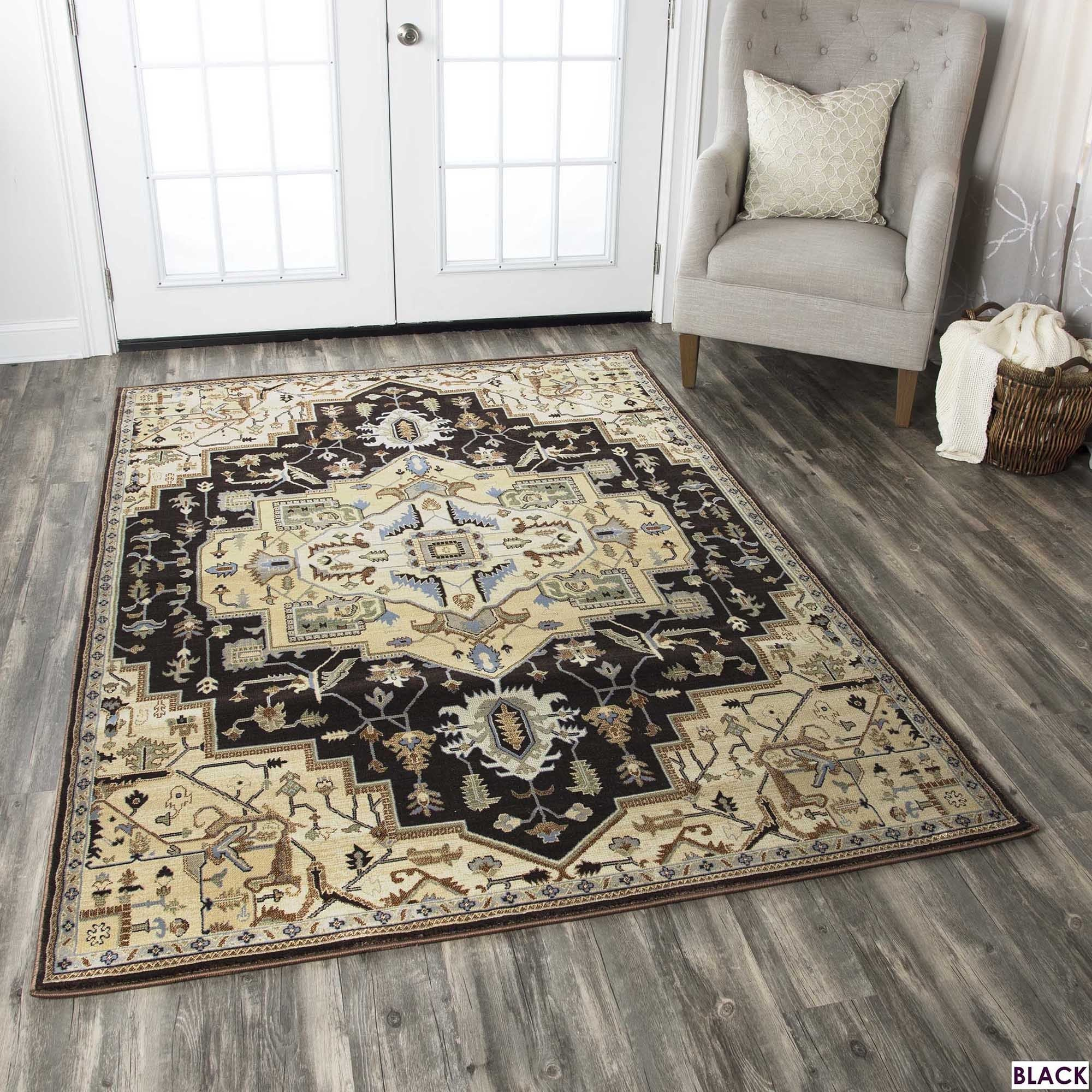 Rizzy Home Bennington Collection Blue And Black Area Rug 7 10 X 10