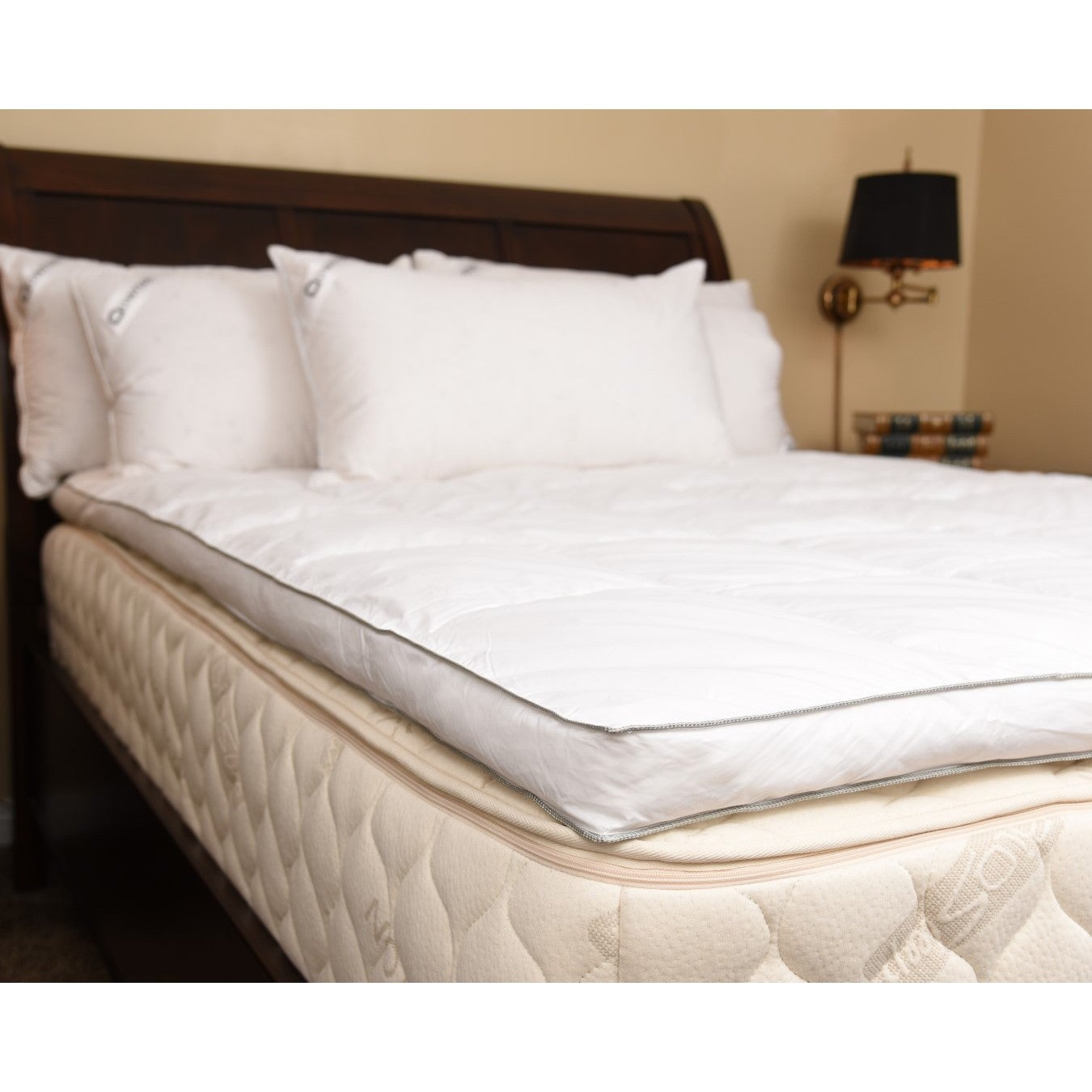 co canadian luxurious down topper king bed mattress mountain moose kitchen dp amazon feather home enhancer goose super uk