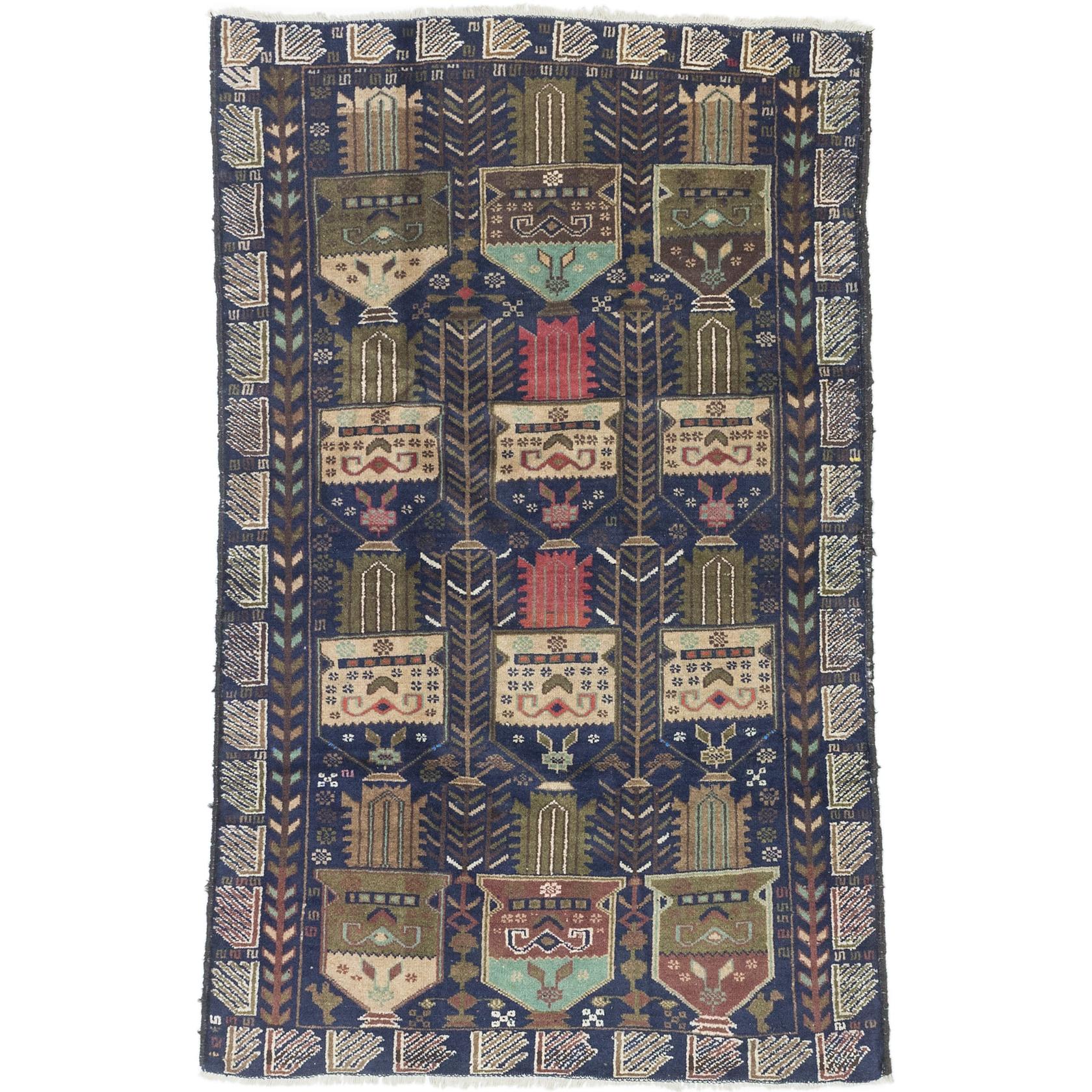 Shop ecarpetgallery Tora Bora Blue Wool Rug (3'8 x 5'9) - Free Shipping Today - Overstock - 11037620