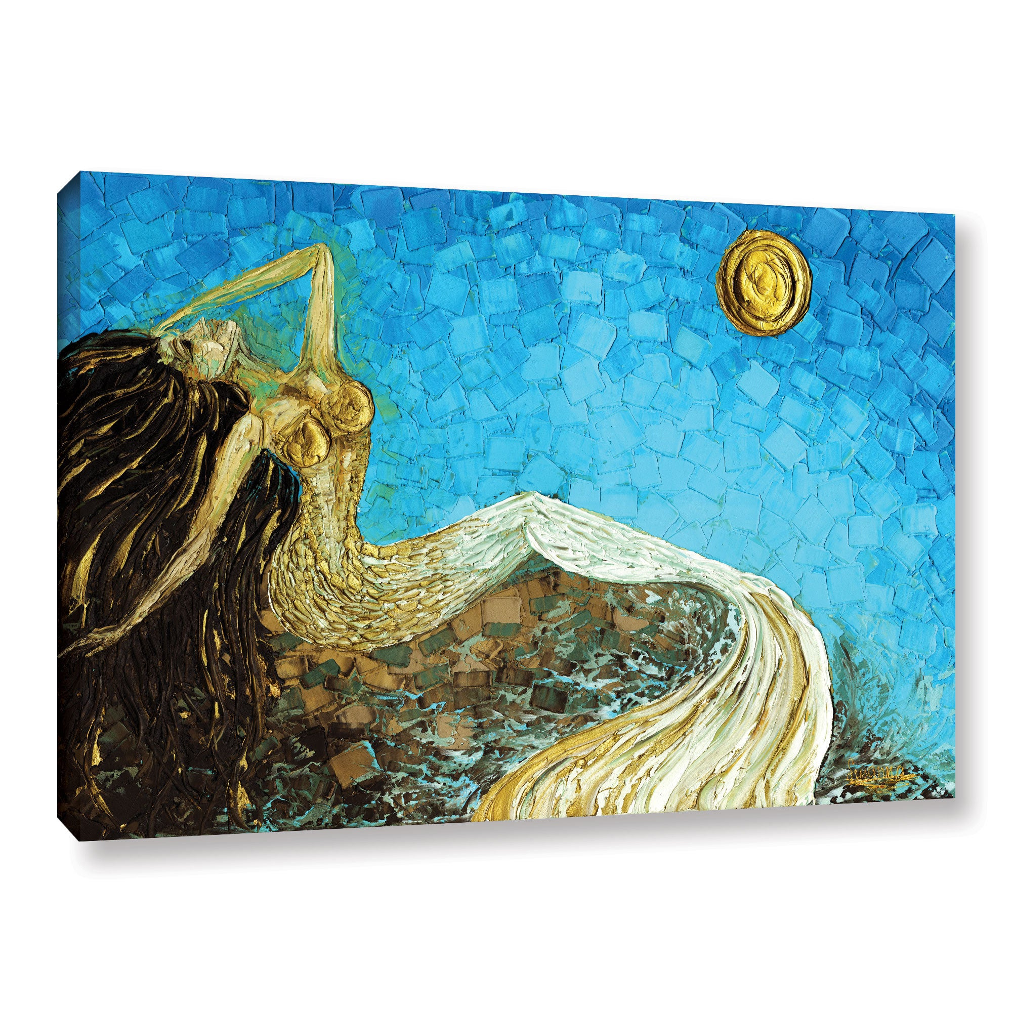 Shop ArtWall Susanna Shaposhnikova\'s Mermaid, Gallery Wrapped Canvas ...