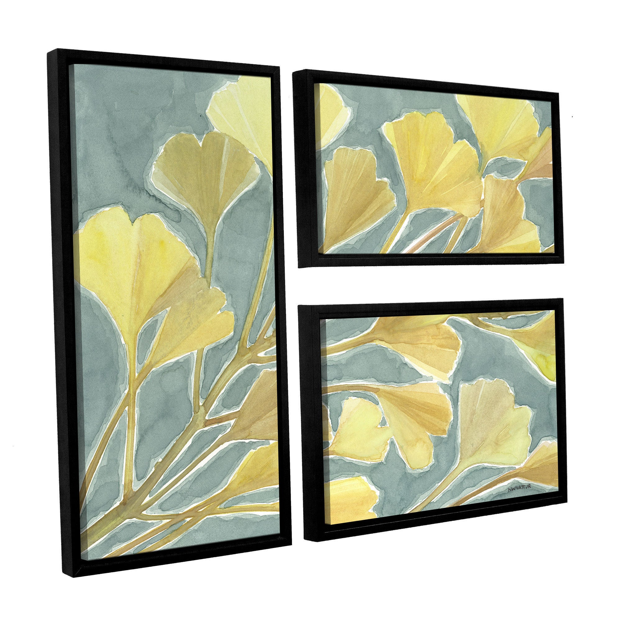 ArtWall Norman Wyatt JR\'s Gorgeous Ginko, 3 Piece Floater Framed ...