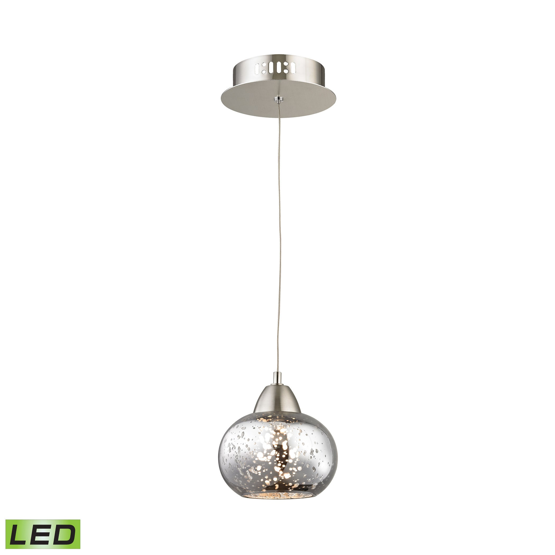 led pendant pharos brushed light in chrome