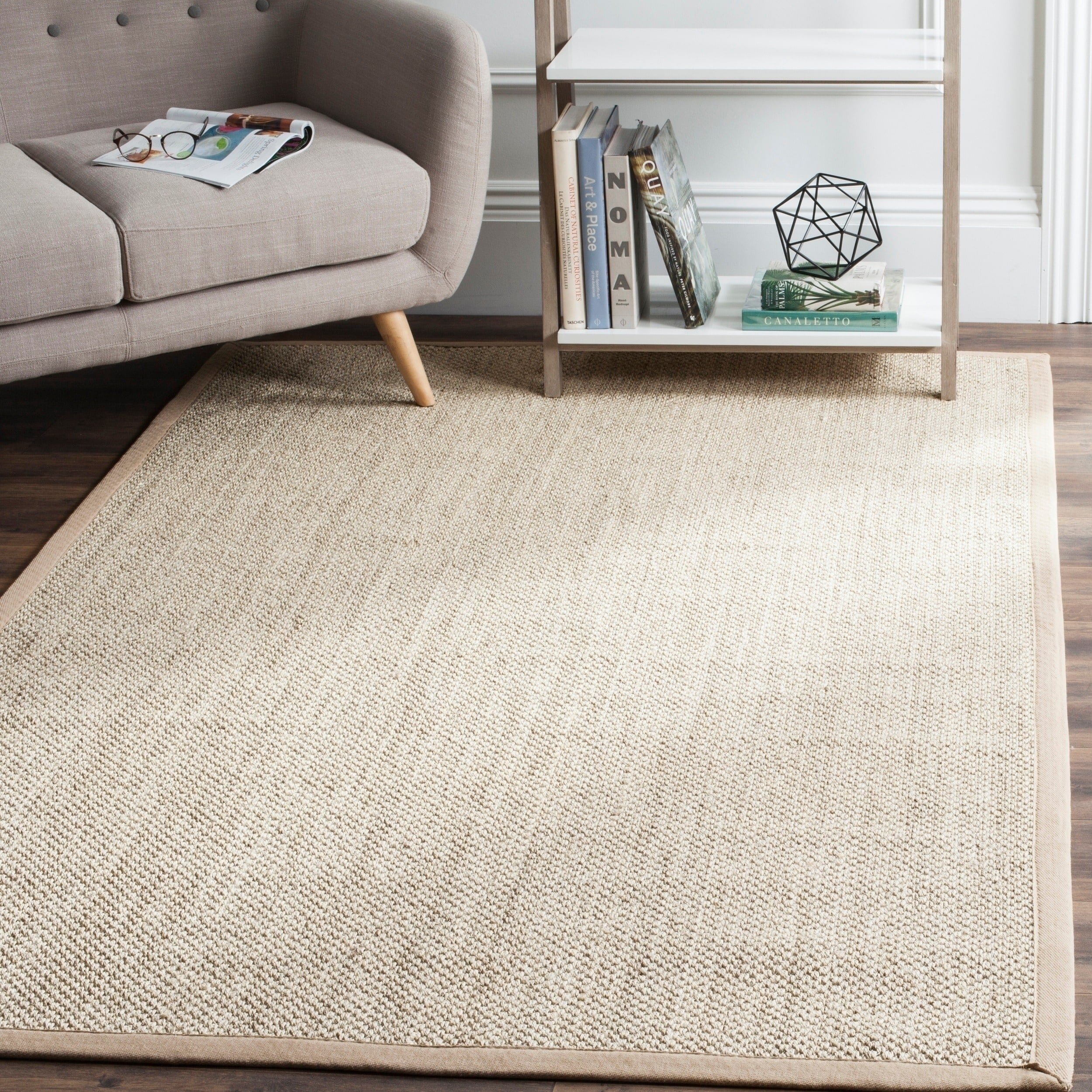 Shop safavieh casual natural fiber marble ivory linen sisal area rug 9 x 12 on sale free shipping today overstock com 11041139