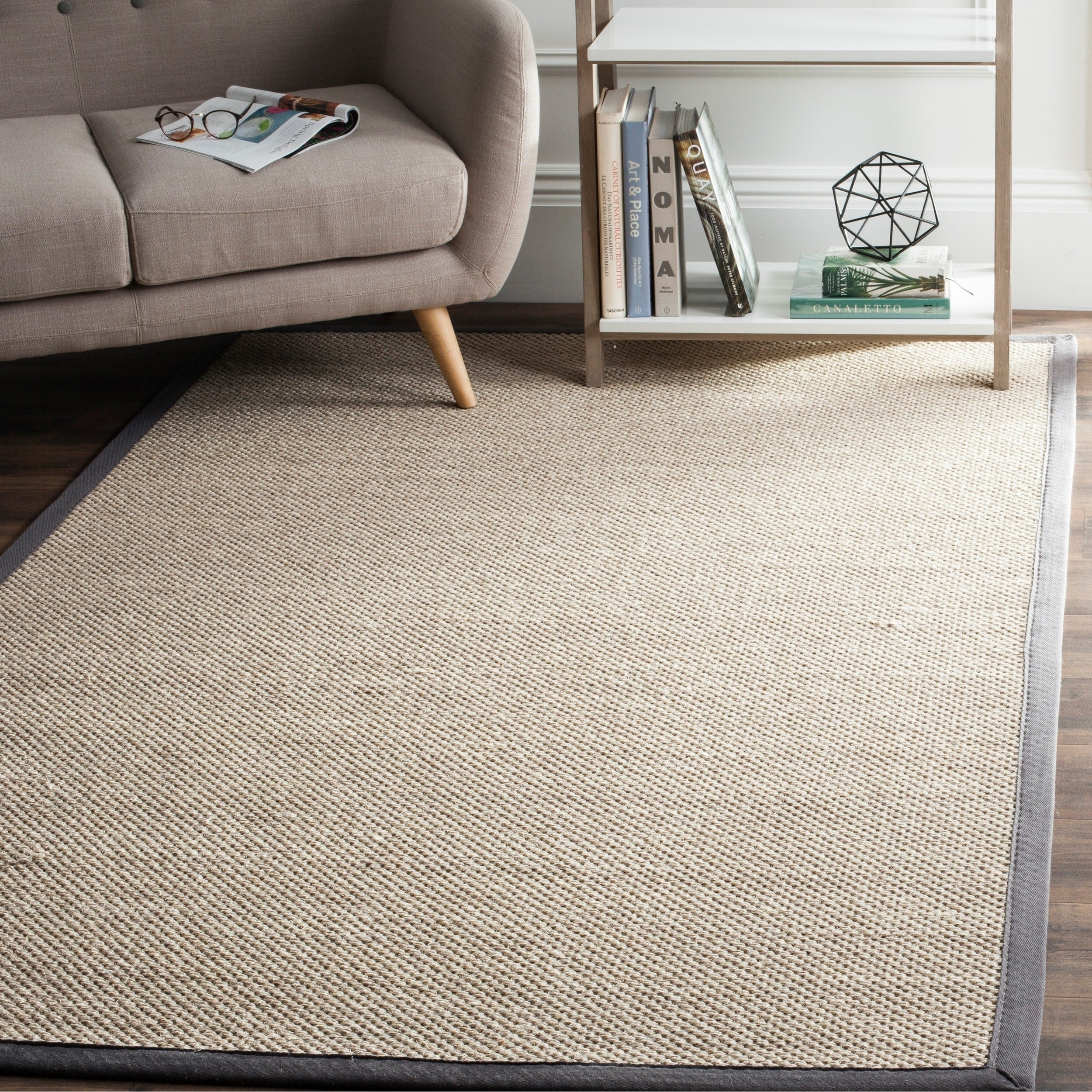 Safavieh Casual Natural Fiber Marble Dark Grey Sisal Area Rug 2 X 3 On Free Shipping Orders Over 45 11041348