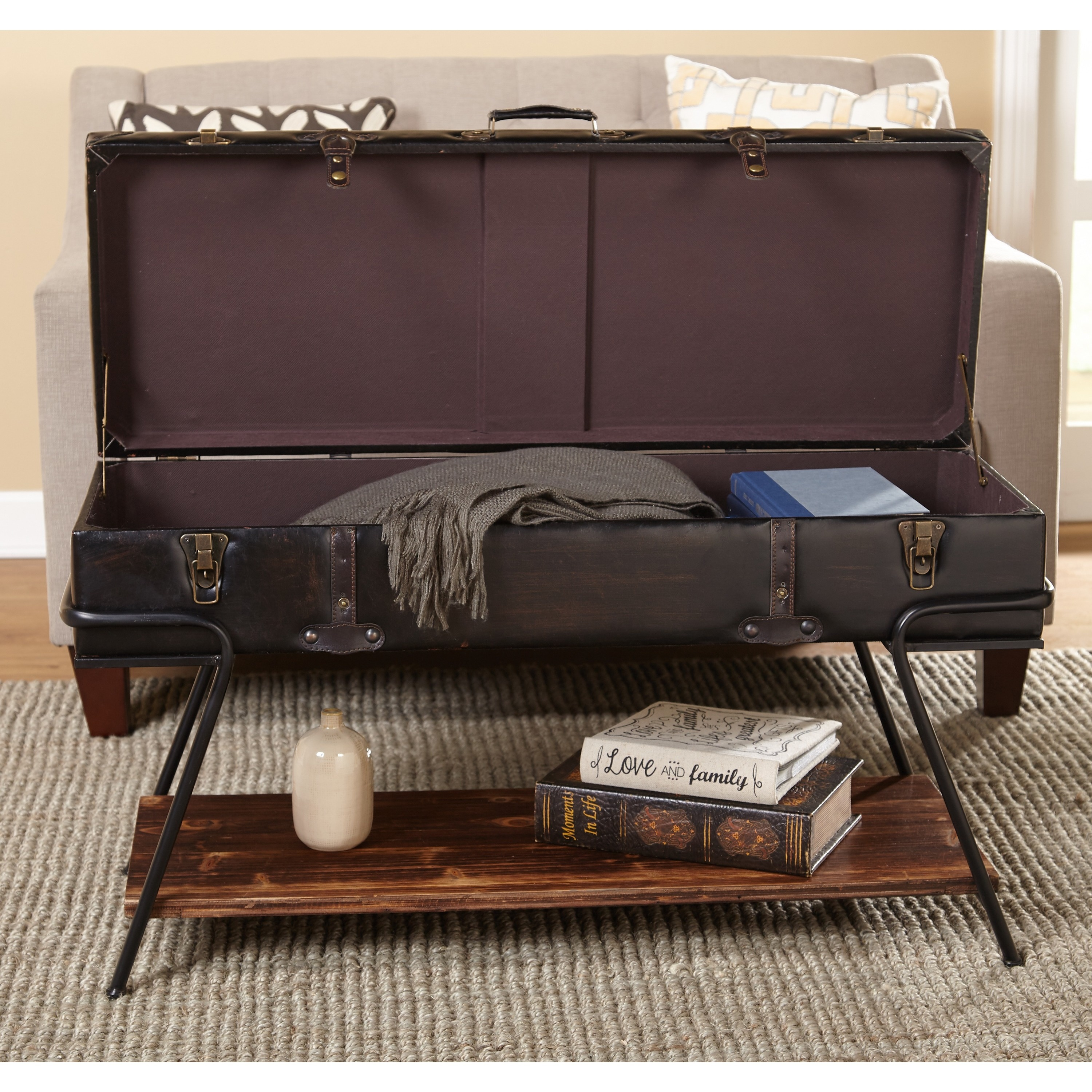 Simple Living Trunk Coffee Table Free Shipping Today Overstock