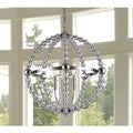 Melanie 3-light Crystal 20-inch Chrome Chandelier