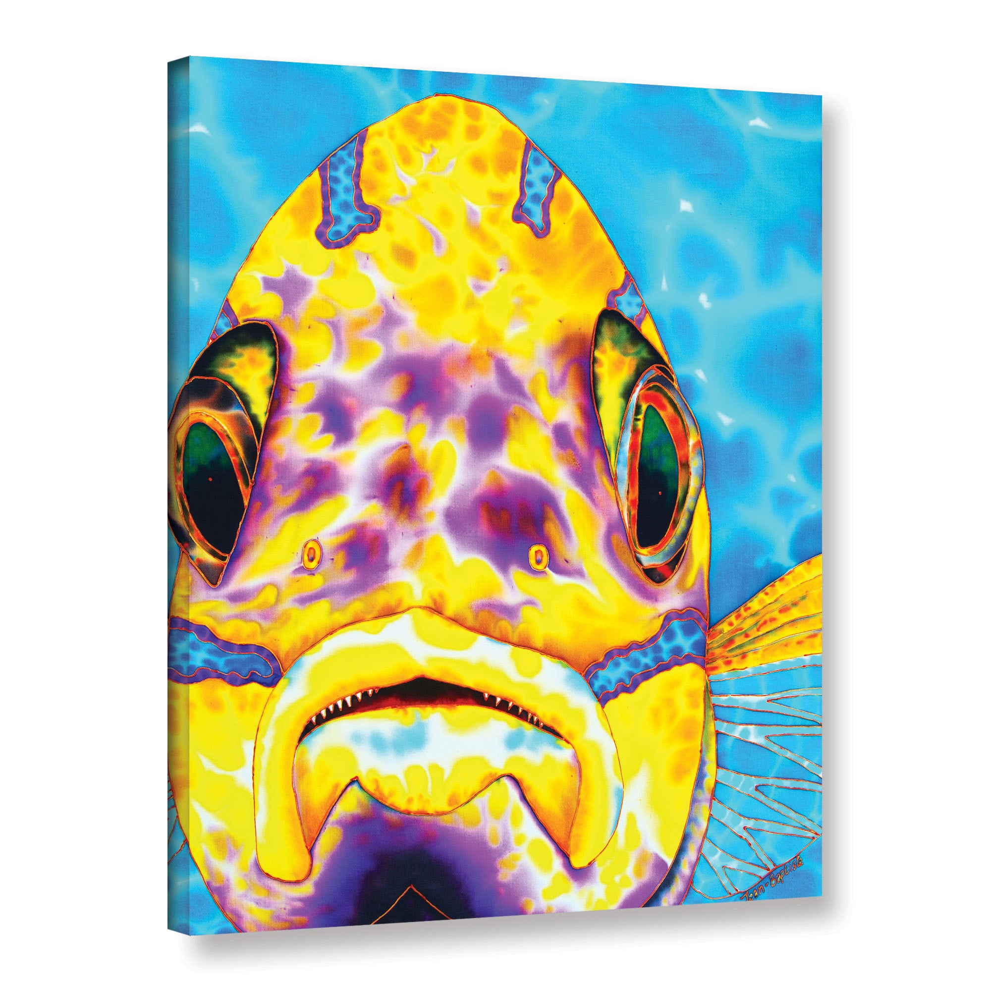 ArtWall Daniel Jean-Baptiste\'s Blue Striped Snapper, Gallery Wrapped ...
