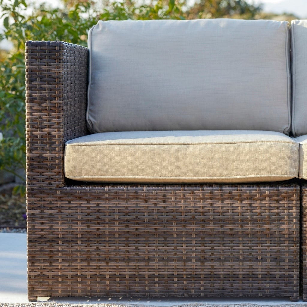 Shop Corvus Trey 12 Piece Dark Brown Wicker Patio Furniture Set With Glass  Top   Free Shipping Today   Overstock   11047230