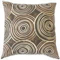 Ahuva Brown Geometric Down and Feather Filled 18-inch Throw Pillow