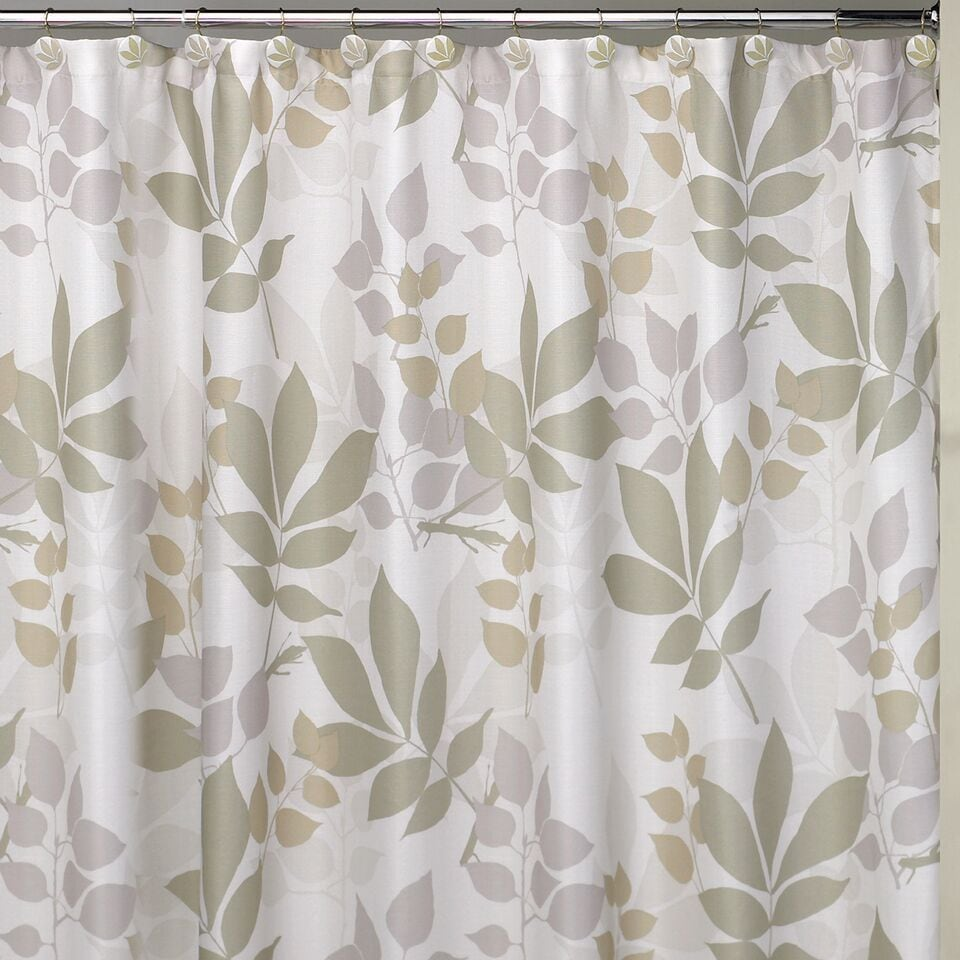 Shop Shadow Leaves Shower Curtain And Bathroom Accessories Separates