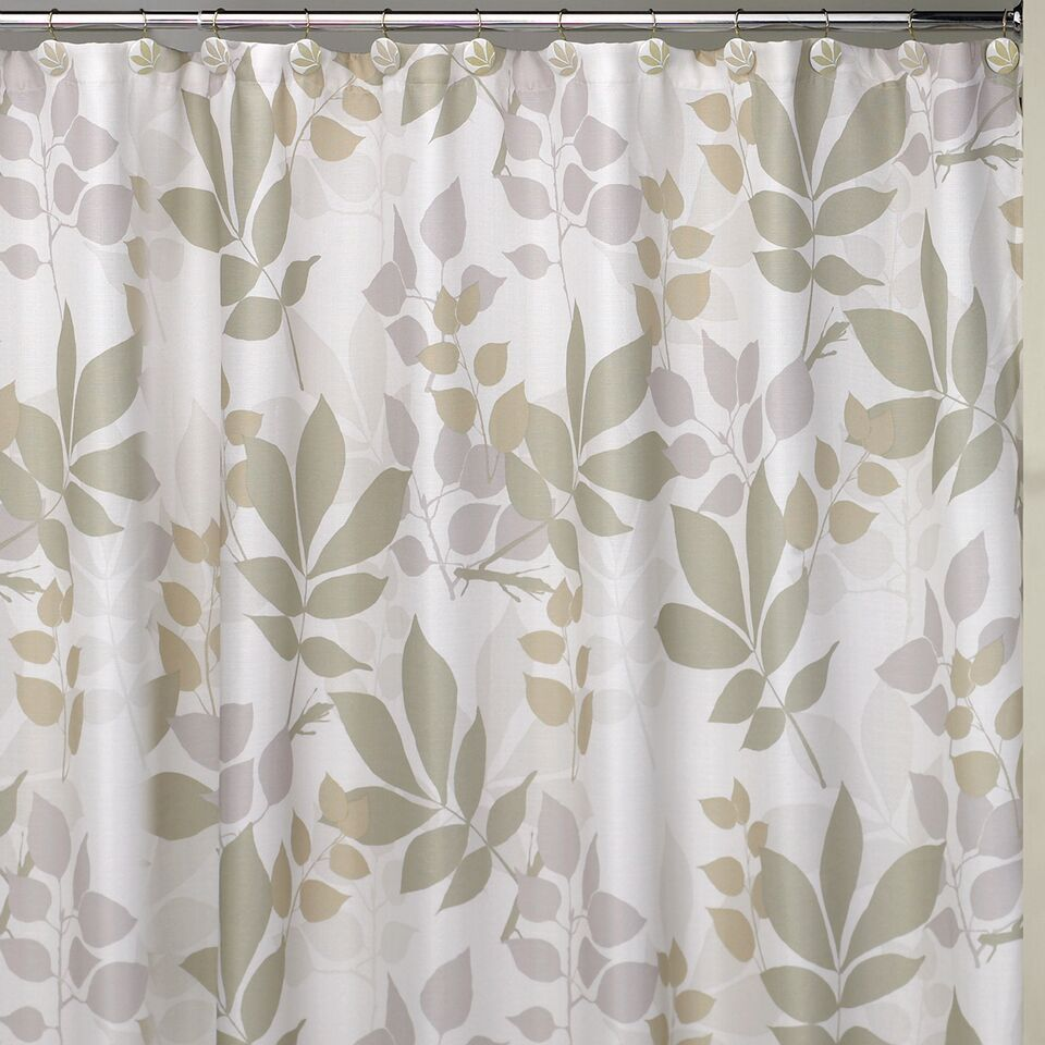 Shadow Leaves Shower Curtain and Bathroom Accessories Separates ...