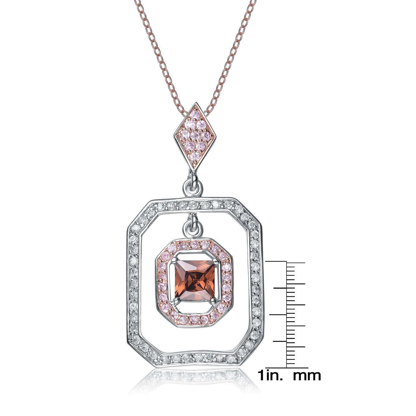 Bright Sterling Silver Red Aaa Zircon Pendant Necklace Bridal & Wedding Party Jewelry Jewelry & Watches Great Varieties
