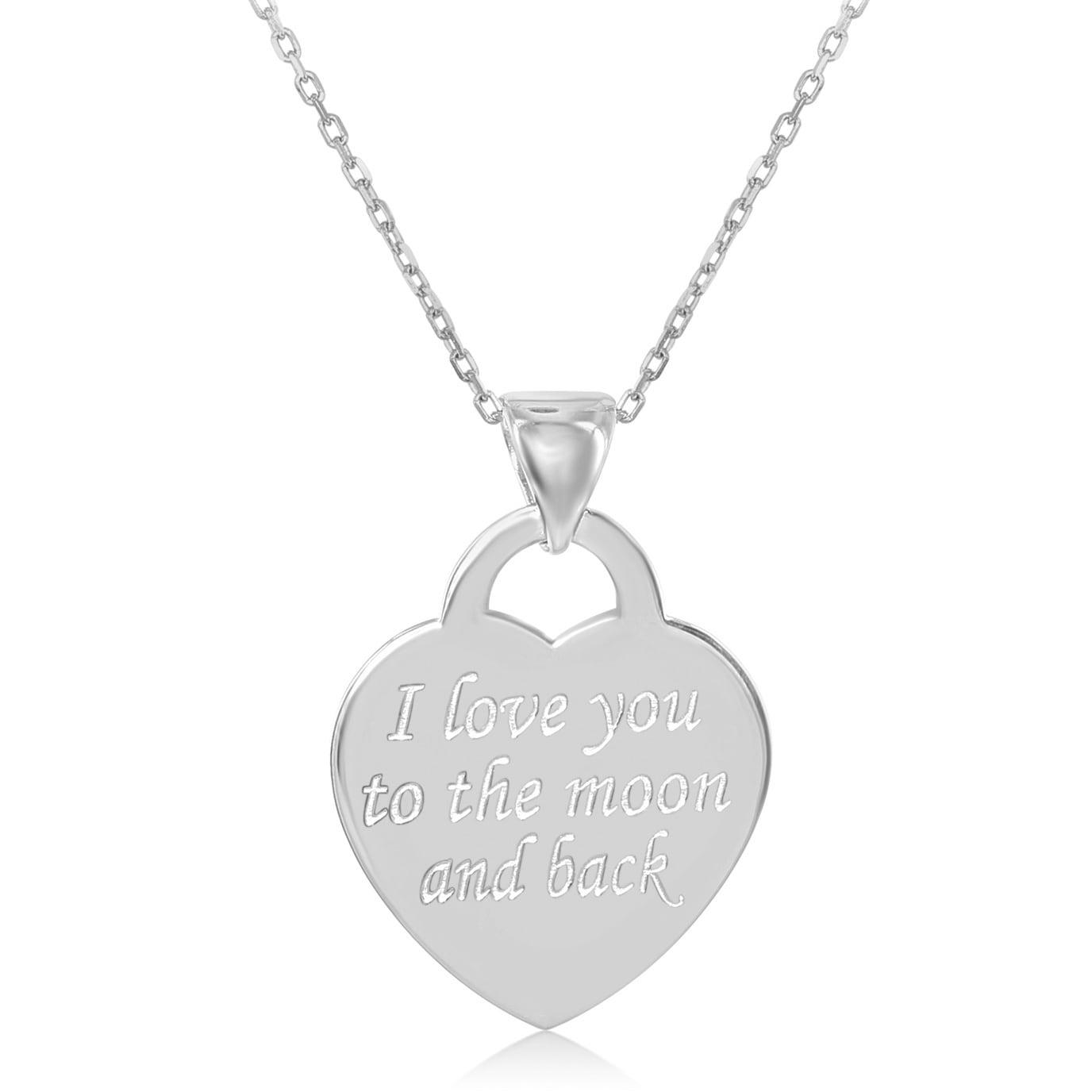 Shop La Preciosa Sterling Silver Italian Engraved Flat Heart Pendant