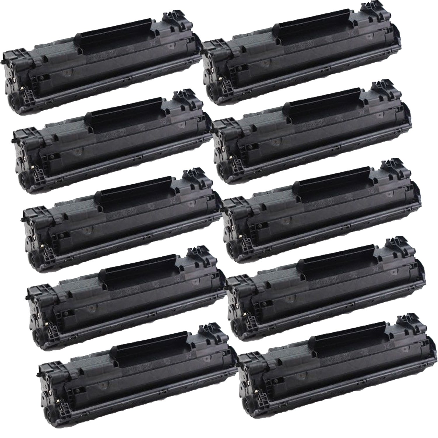 Shop 10 Pack Compatible Cf283a 83a Toner Cartridges For Hp Laserjet Cartridge Mfp M125 M127fn Pro M125nw M127 M127w Of Black Free Shipping Today