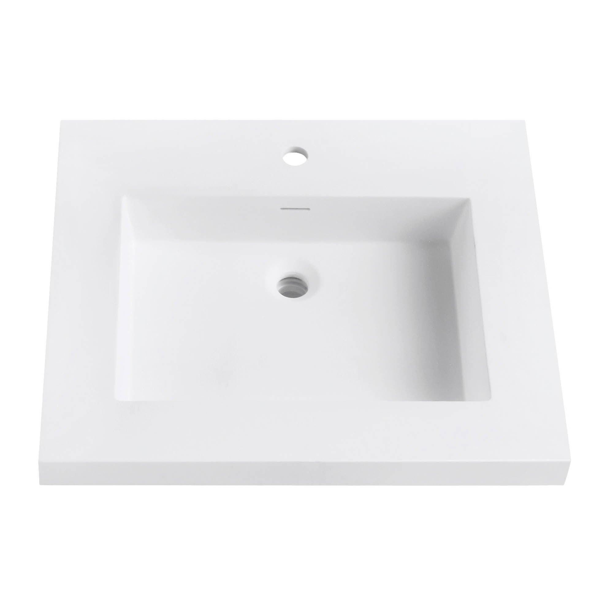 Shop Avanity VersaStone 25 Inch Solid Surface Vanity Top   Free Shipping  Today   Overstock.com   11065575
