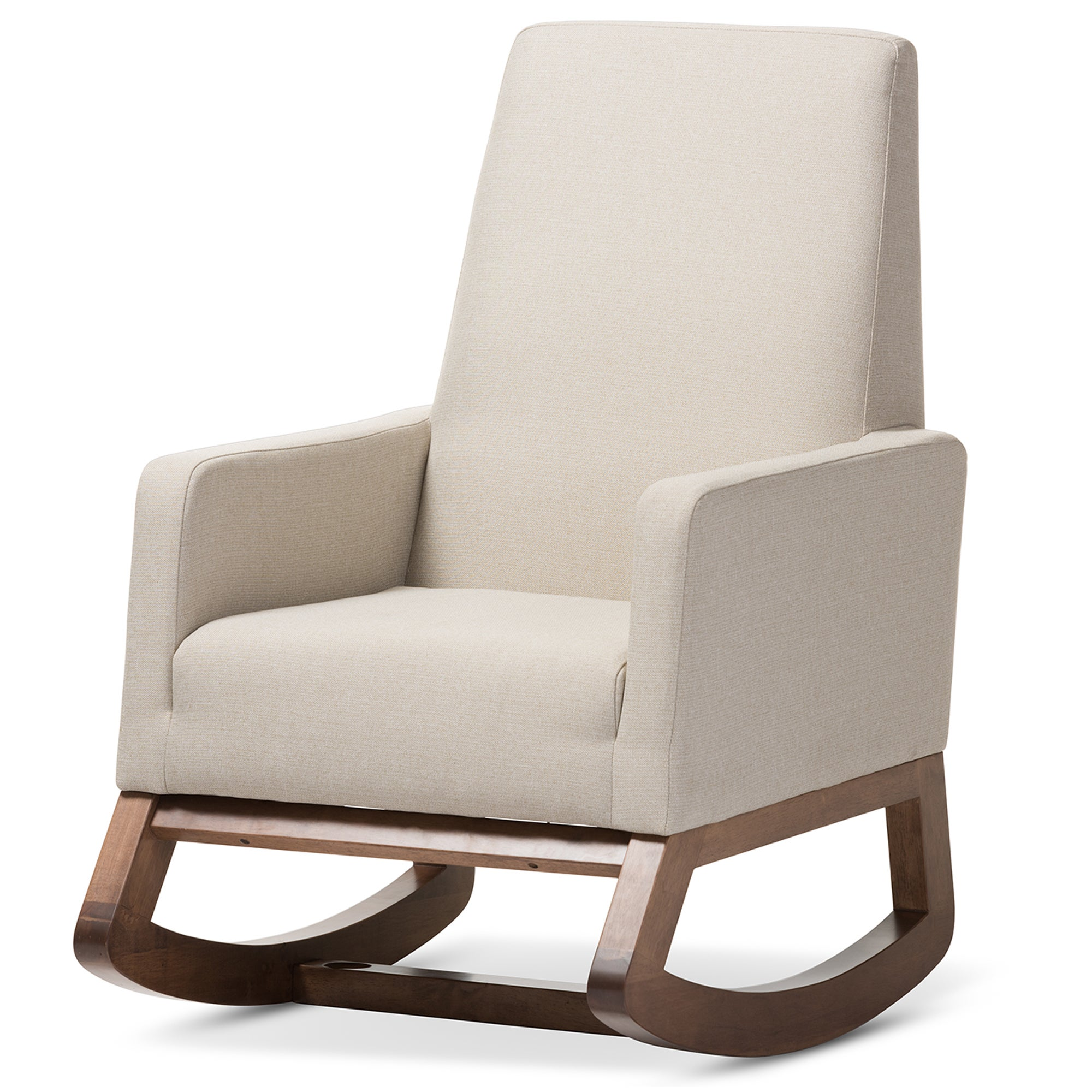 Ordinaire Shop Strick U0026 Bolton Coleman Mid Century Modern Light Beige Upholstered  Rocking Chair And Ottoman Set   Free Shipping Today   Overstock.com    20543658