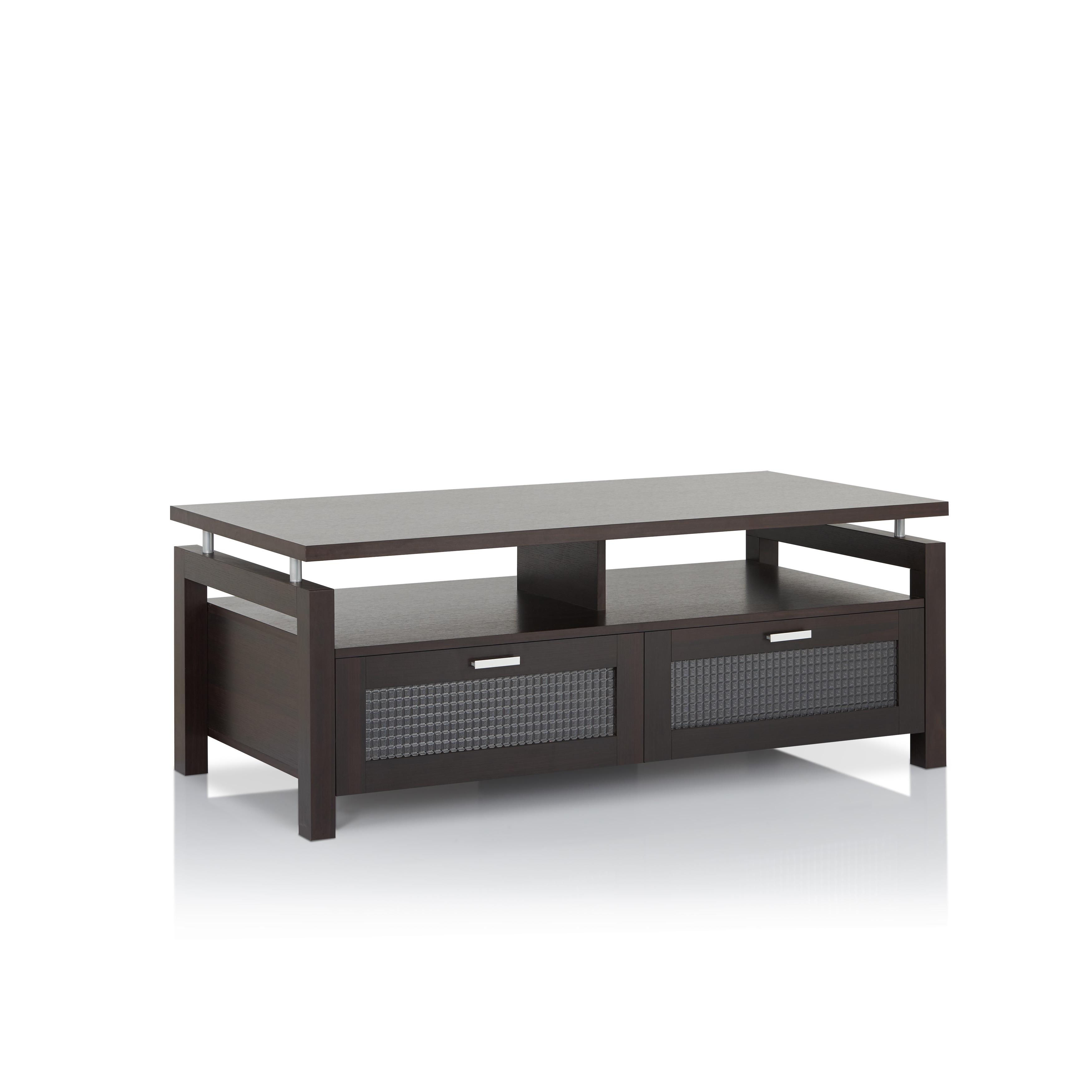 furniture of america bauston modern espresso storage coffee table  freeshipping today  overstockcom  . furniture of america bauston modern espresso storage coffee table