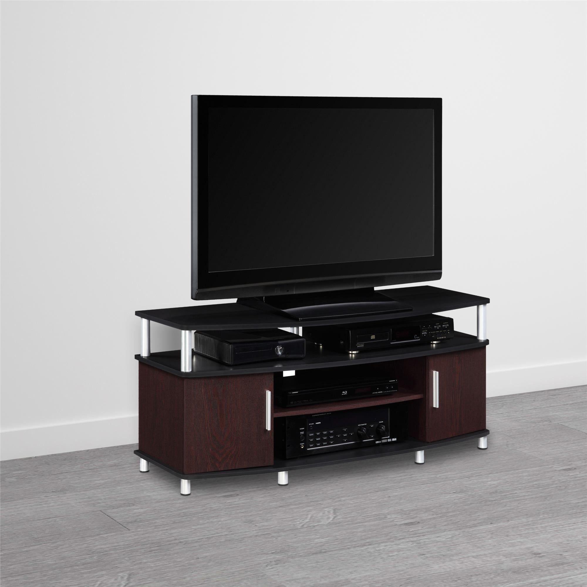 Shop Avenue Greene Ford Cherry Black Wood 50 Inch Tv Stand Free