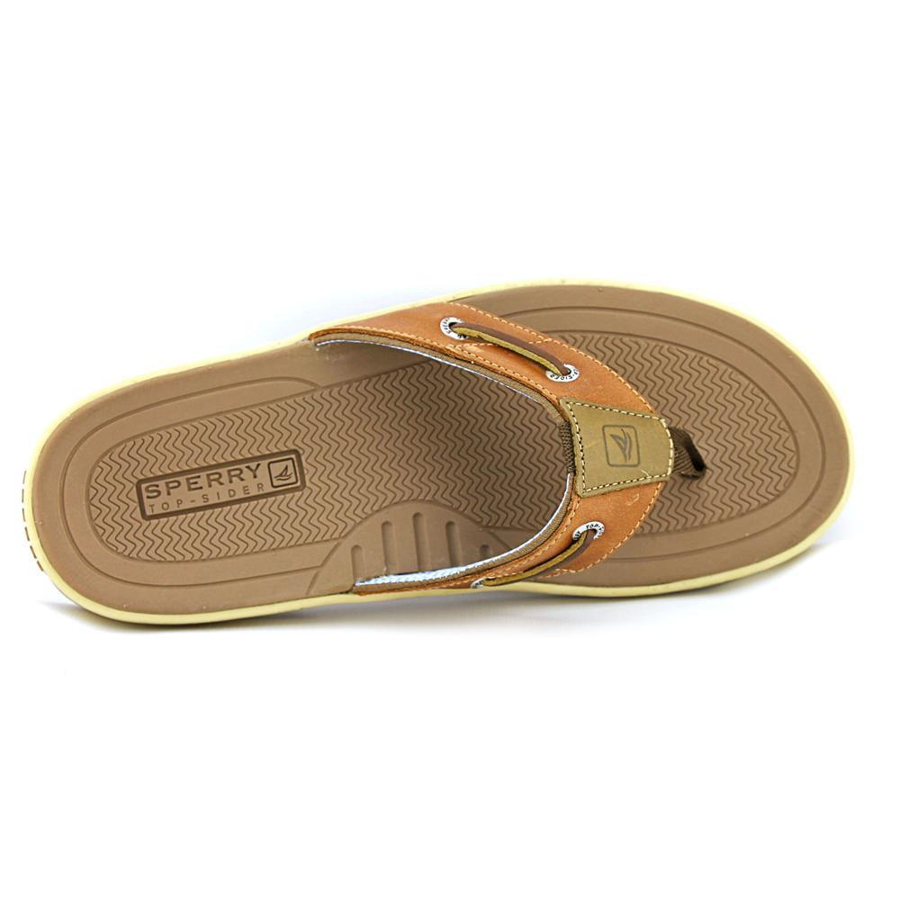 c7eb02073ccf Shop Sperry Top Sider Men s  Baitfish Thong  Full-Grain Leather Sandals -  Free Shipping Today - Overstock - 11079836