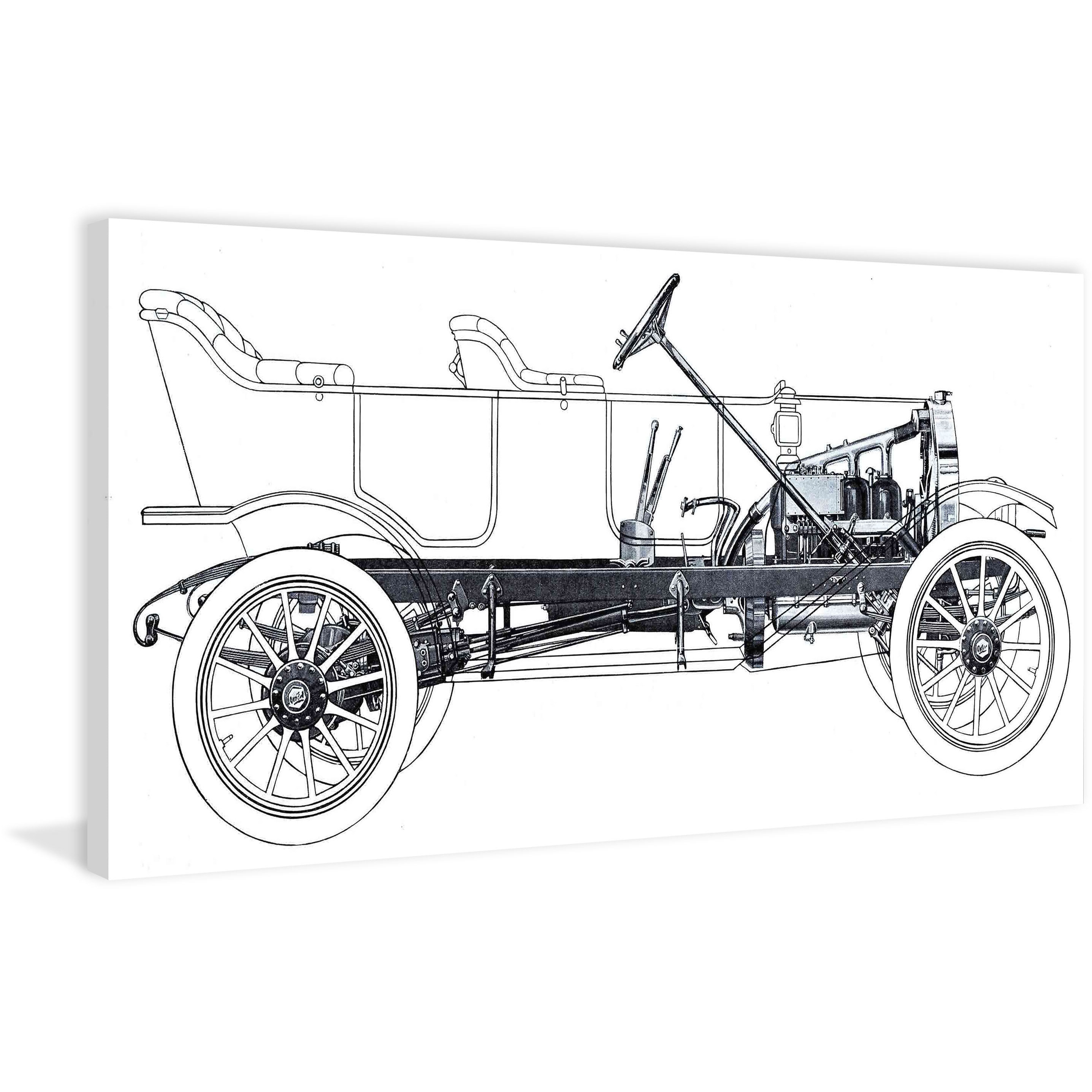 Shop marmont hill vintage race car blueprint 1 painting print on shop marmont hill vintage race car blueprint 1 painting print on canvas multi color on sale free shipping today overstock 11081512 malvernweather Choice Image