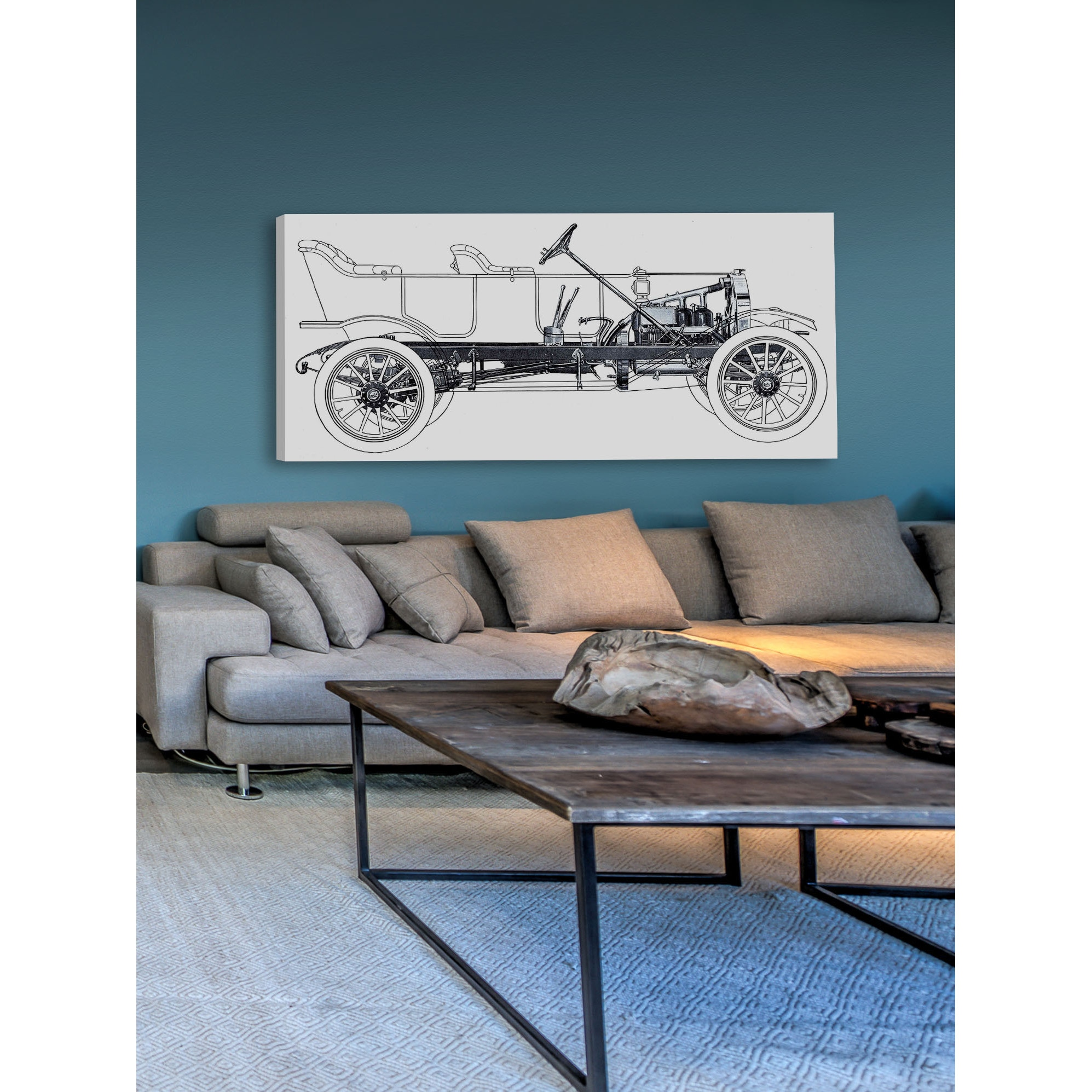 Marmont hill vintage race car blueprint 1 painting print on canvas marmont hill vintage race car blueprint 1 painting print on canvas multi color free shipping today overstock 18089408 malvernweather Gallery
