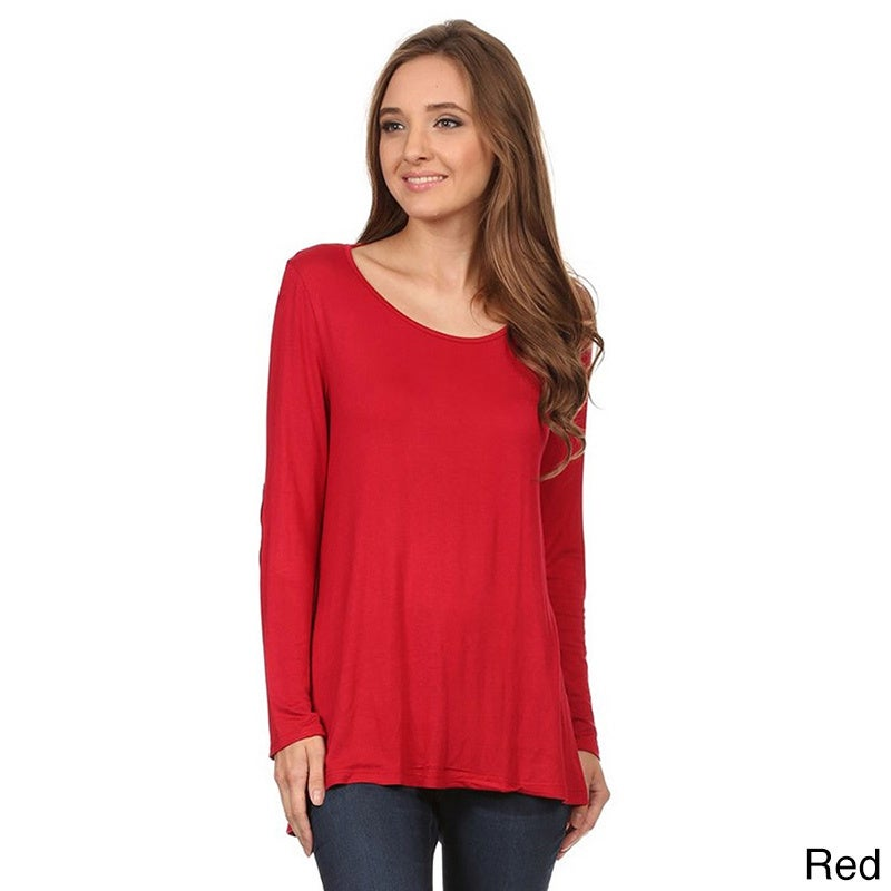 51a53bf764 Shop Moa Collection Women s Top with Faux Suede Elbow Patches - On Sale -  Free Shipping On Orders Over  45 - Overstock - 11083461