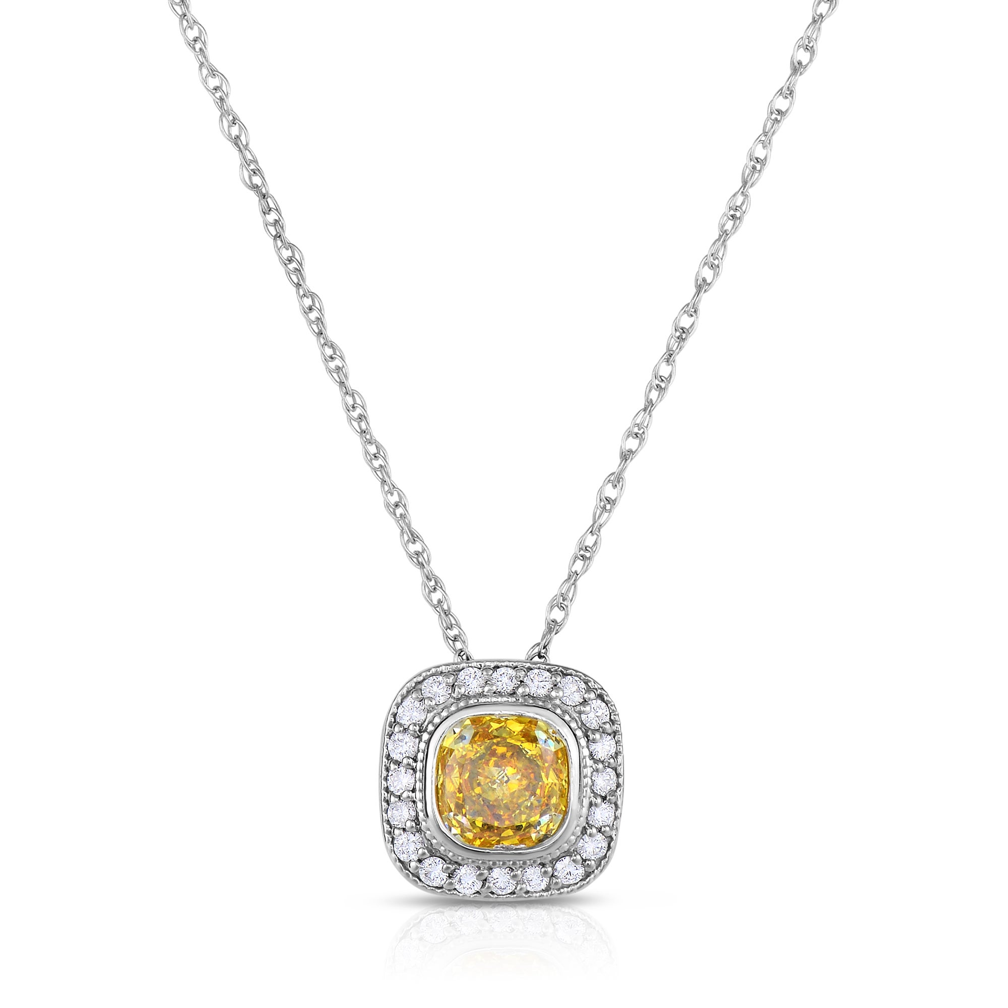 pendant product white shop rakuten enhanced bezel gold si g diamond solitaire