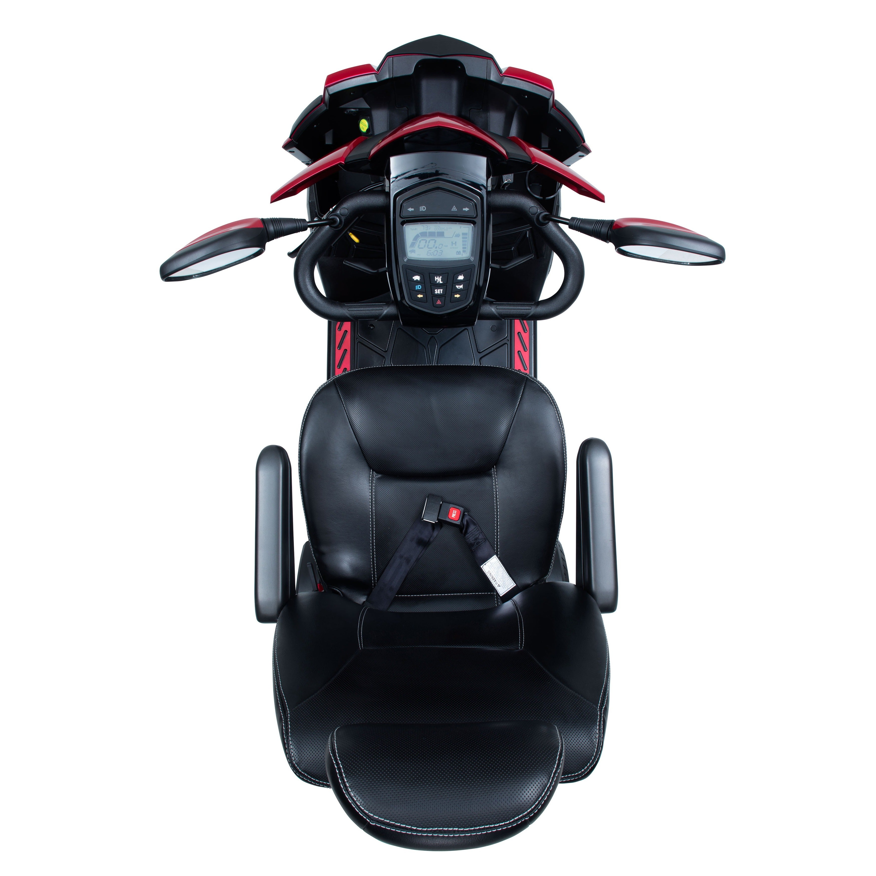Drive Medical King Cobra Executive 4 Wheel, Power Scooter, with 22-inch  Captain Seat - Black/Red