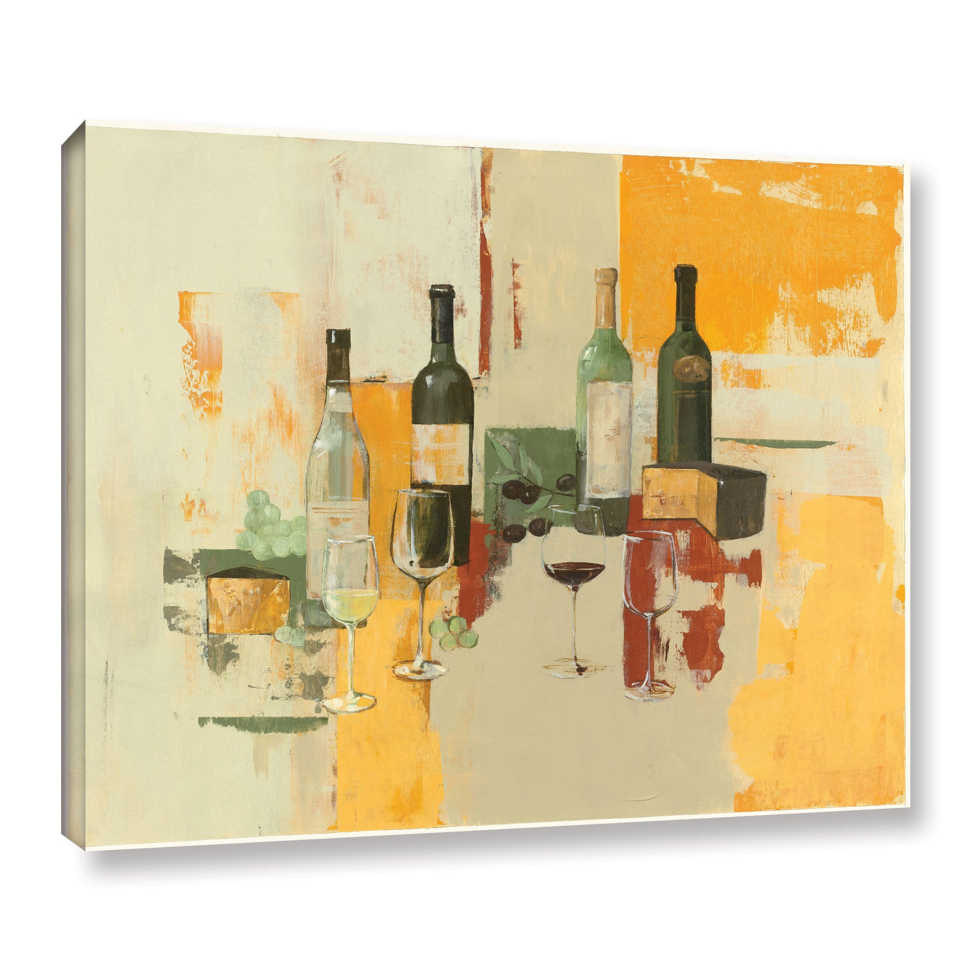 ArtWall Avery Tillmon\'s Contemporary Wine Tasting I, Gallery Wrapped ...