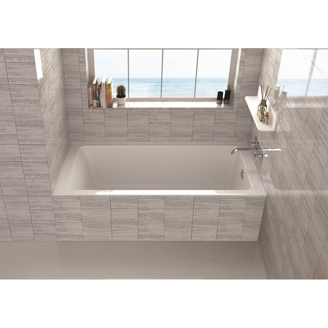 Fine Fixtures Alcove Bathtub With Right Side Fixed Tile Flange (32 ...