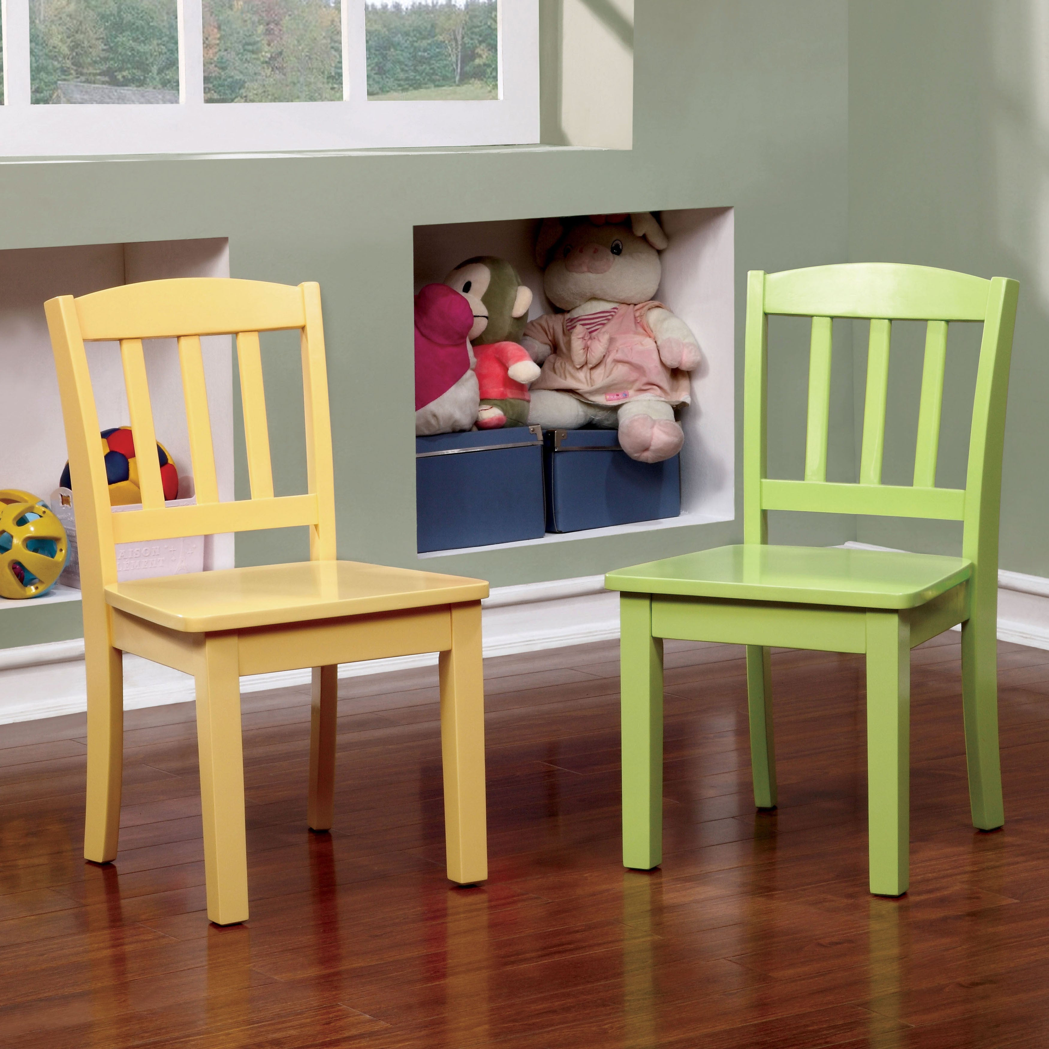 Furniture of America Sallie Youth 5-piece Table and Chair Set - Free Shipping Today - Overstock.com - 18103614 & Furniture of America Sallie Youth 5-piece Table and Chair Set ...