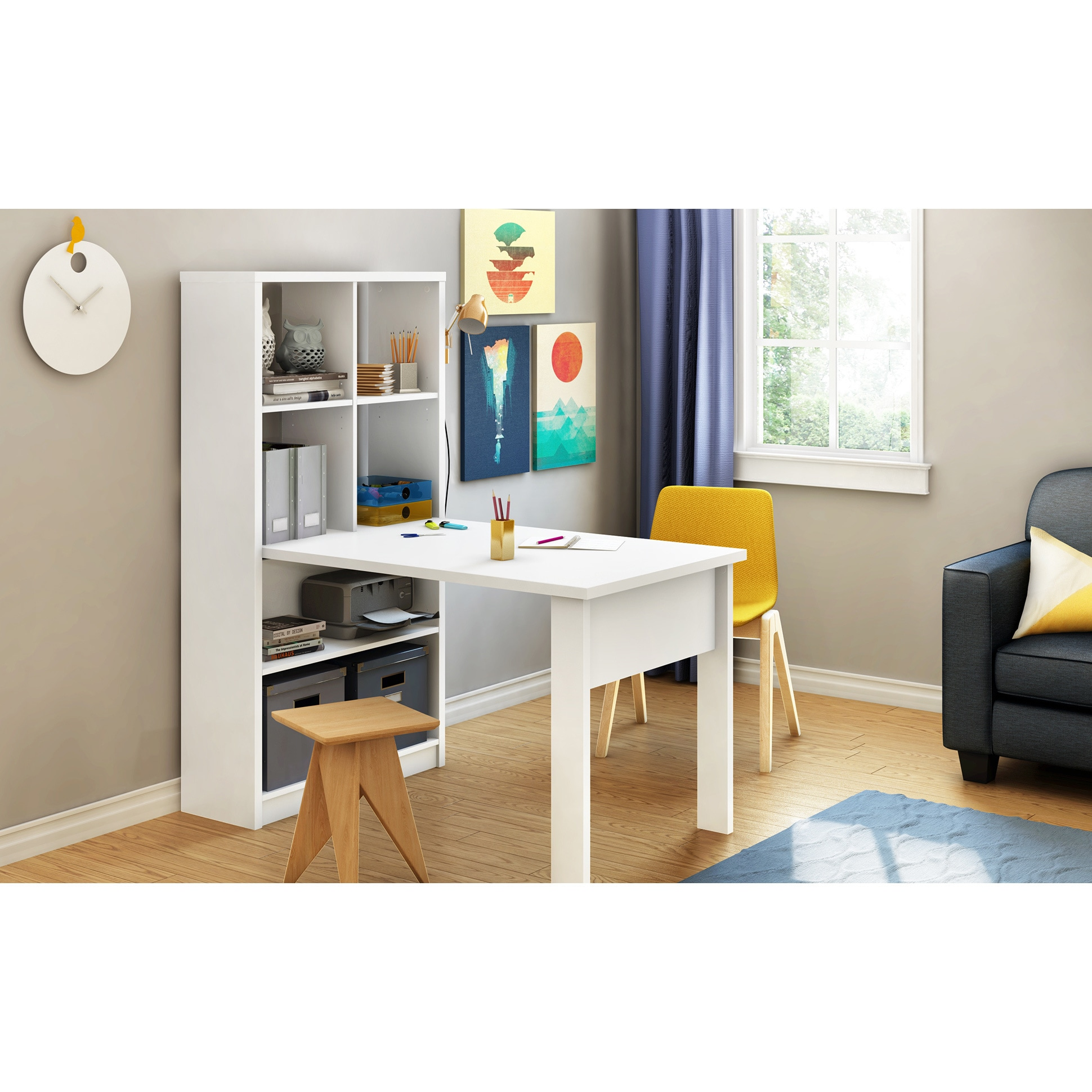 South S Annexe Sewing Machine Craft Table And Storage Unit Combo Free Shipping Today 11098793