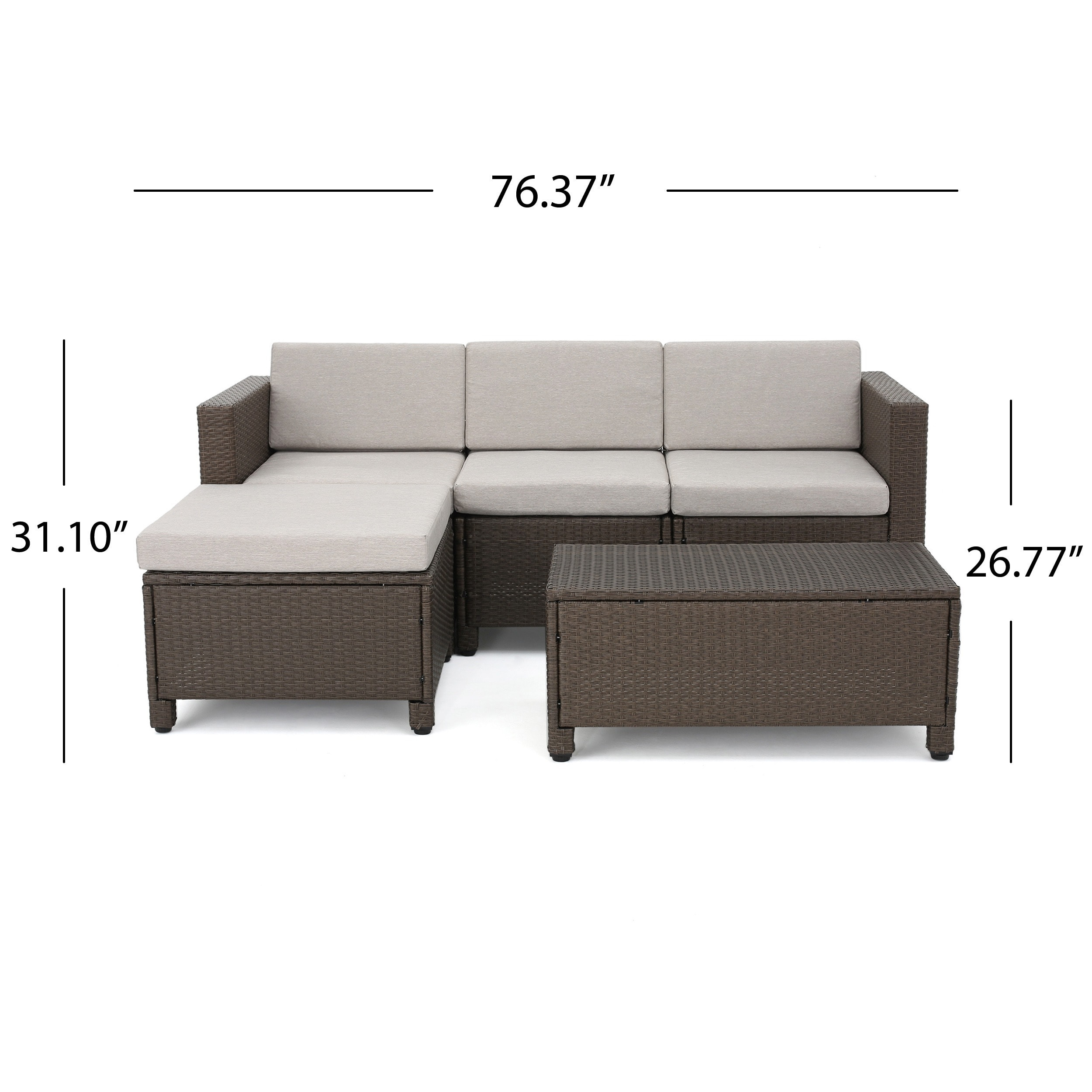 Shop Christopher Knight Home Outdoor Puerta 5 Piece Wicker Sectional Sofa  Set With Cushions   On Sale   Free Shipping Today   Overstock.com   20603202