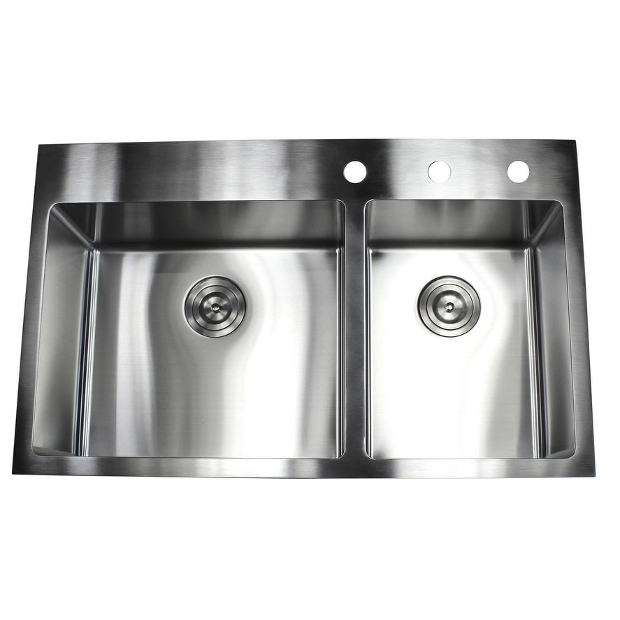 Shop 36 inch Topmount Drop in Stainless Steel Double