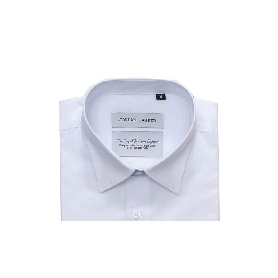23bbb659496fb6 Shop Jordan Jasper Men s Solid White Shirt - Free Shipping On Orders Over   45 - Overstock - 11101135