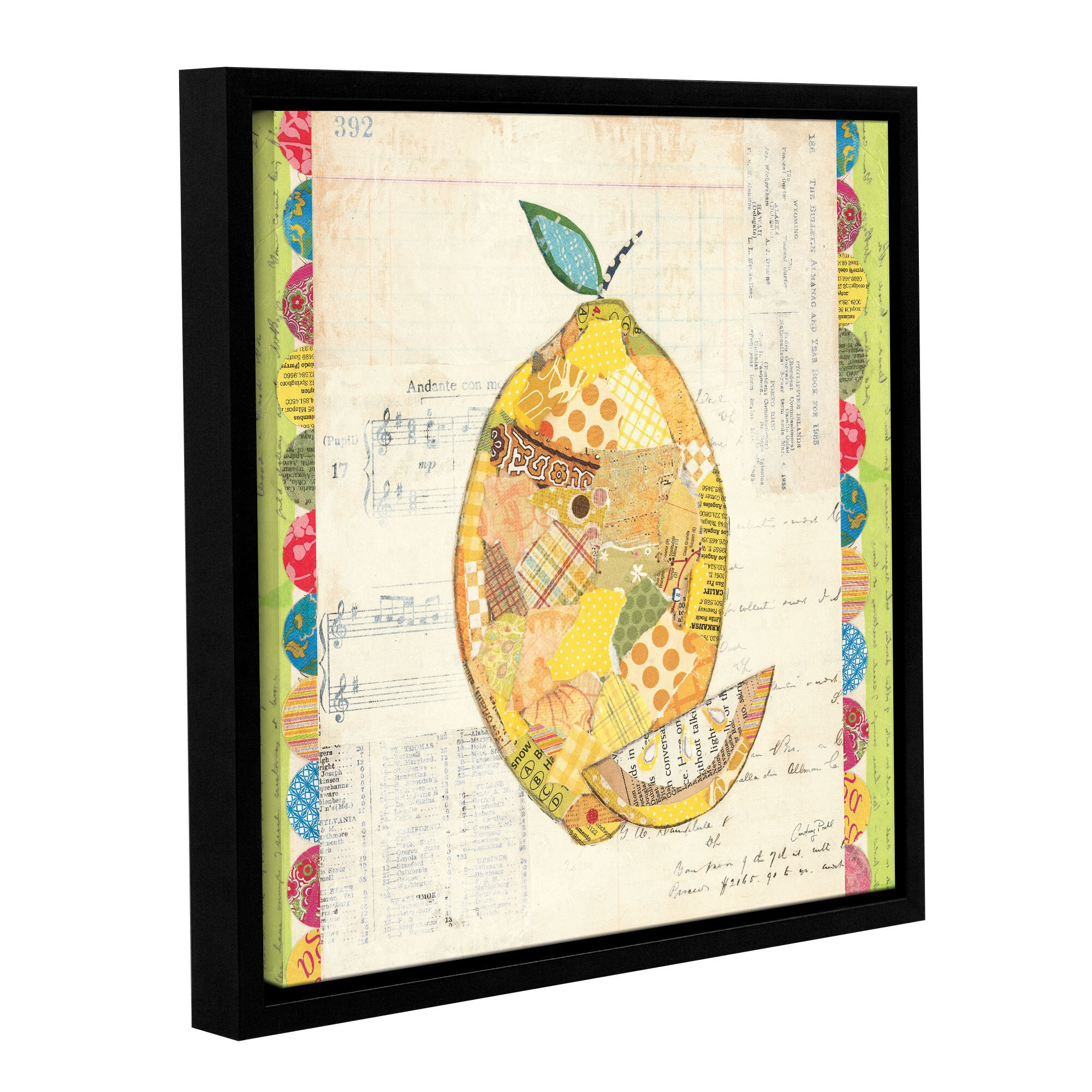 ArtWall Courtney Prahl\'s Fruit Collage 2, Gallery Wrapped Floater ...
