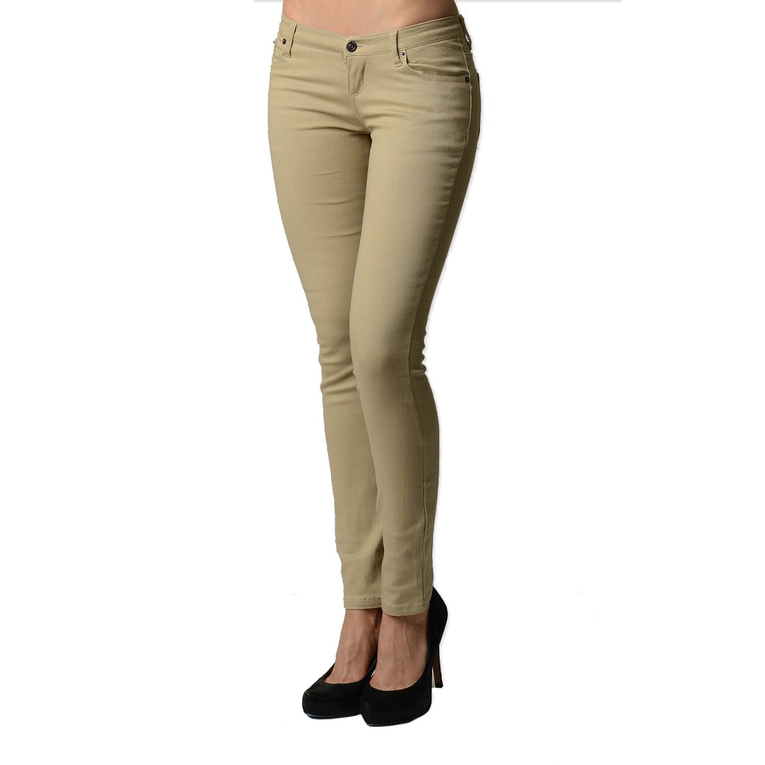 0e59a4064542ce Shop Dinamit Juniors 5-Pocket Skinny Uniform Pant - On Sale - Free Shipping  On Orders Over $45 - Overstock - 11102390