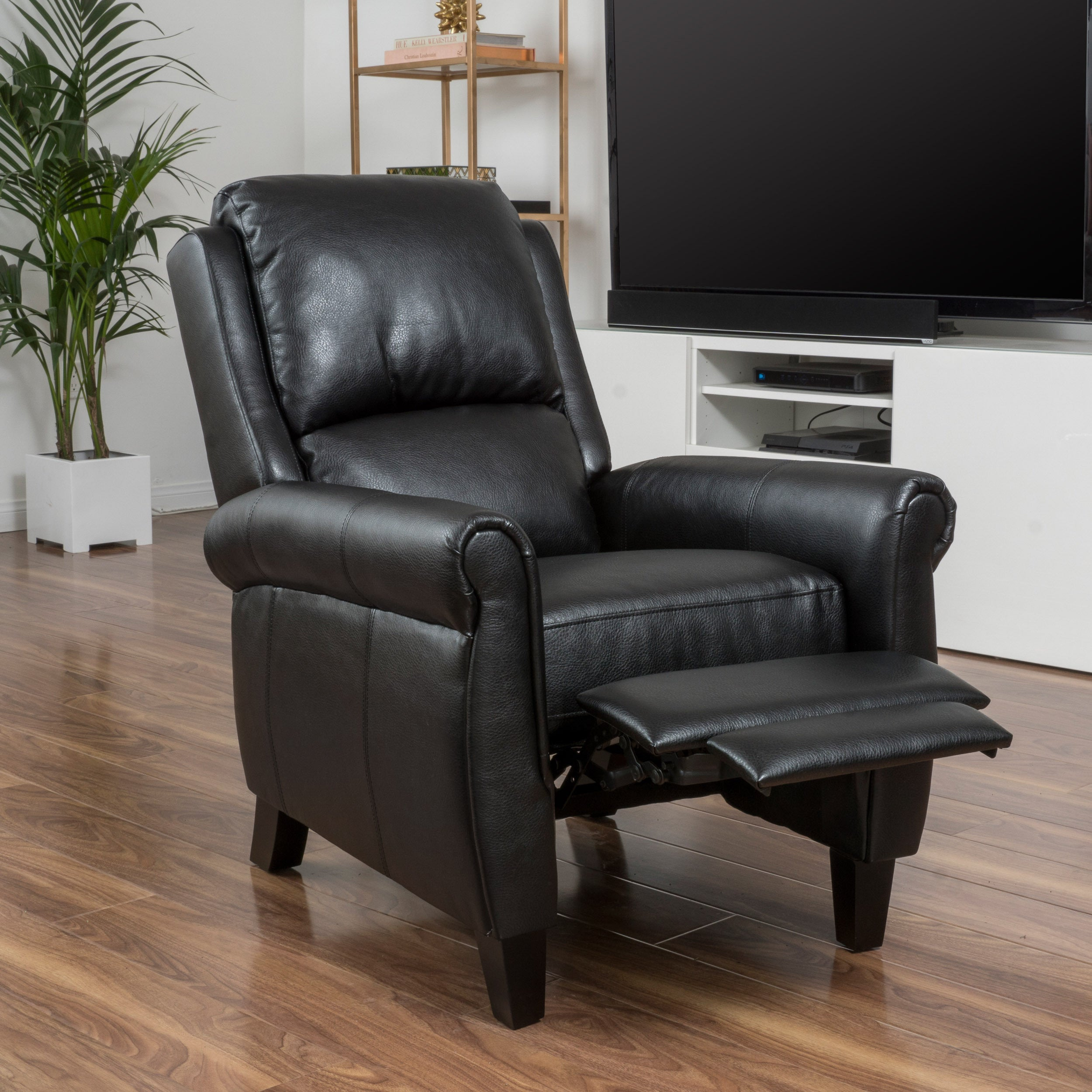 Shop Haddan PU Leather Recliner Club Chair By Christopher Knight Home   On  Sale   Free Shipping Today   Overstock.com   11104245