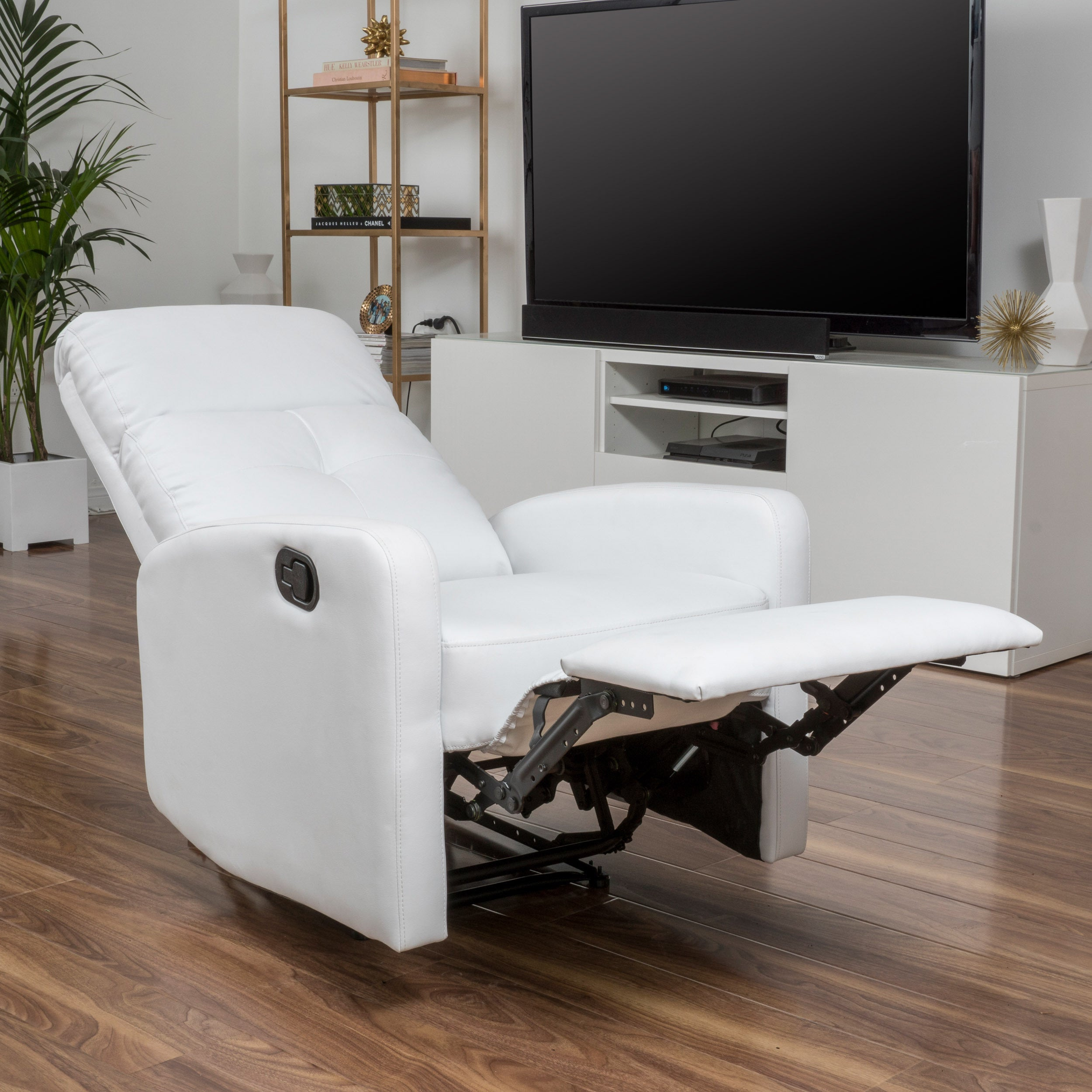 Samedi PU Leather Recliner Club Chair By Christopher Knight Home   Free  Shipping Today   Overstock   18108484