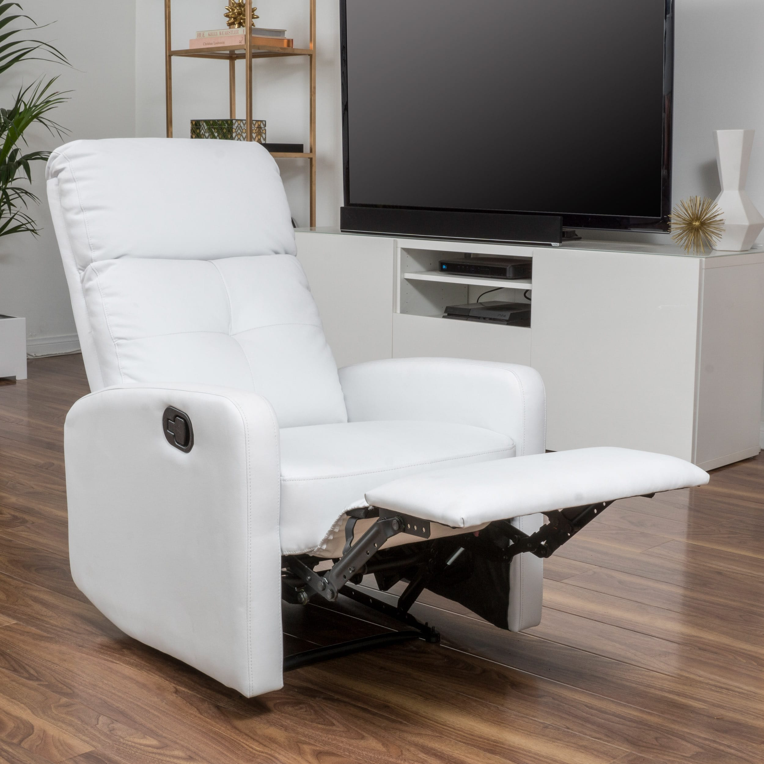 shop samedi pu leather recliner club chair by christopher knight