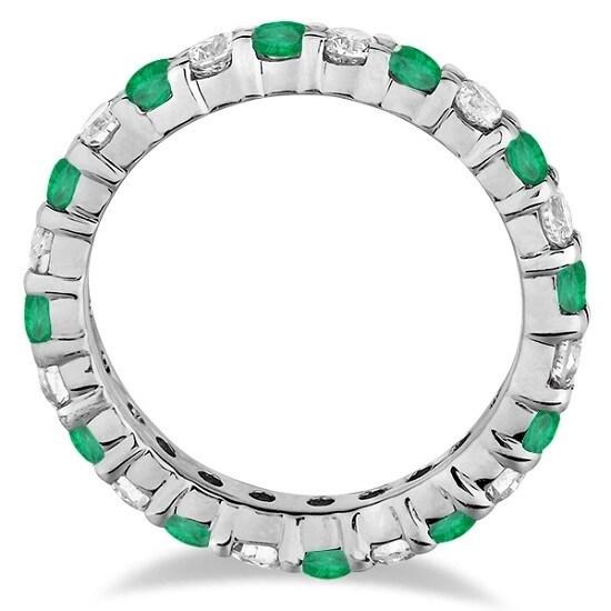 5aa2042e210 Shop 14k Gold Gemstone   Diamond Eternity Ring Band 1.07ct (G-H